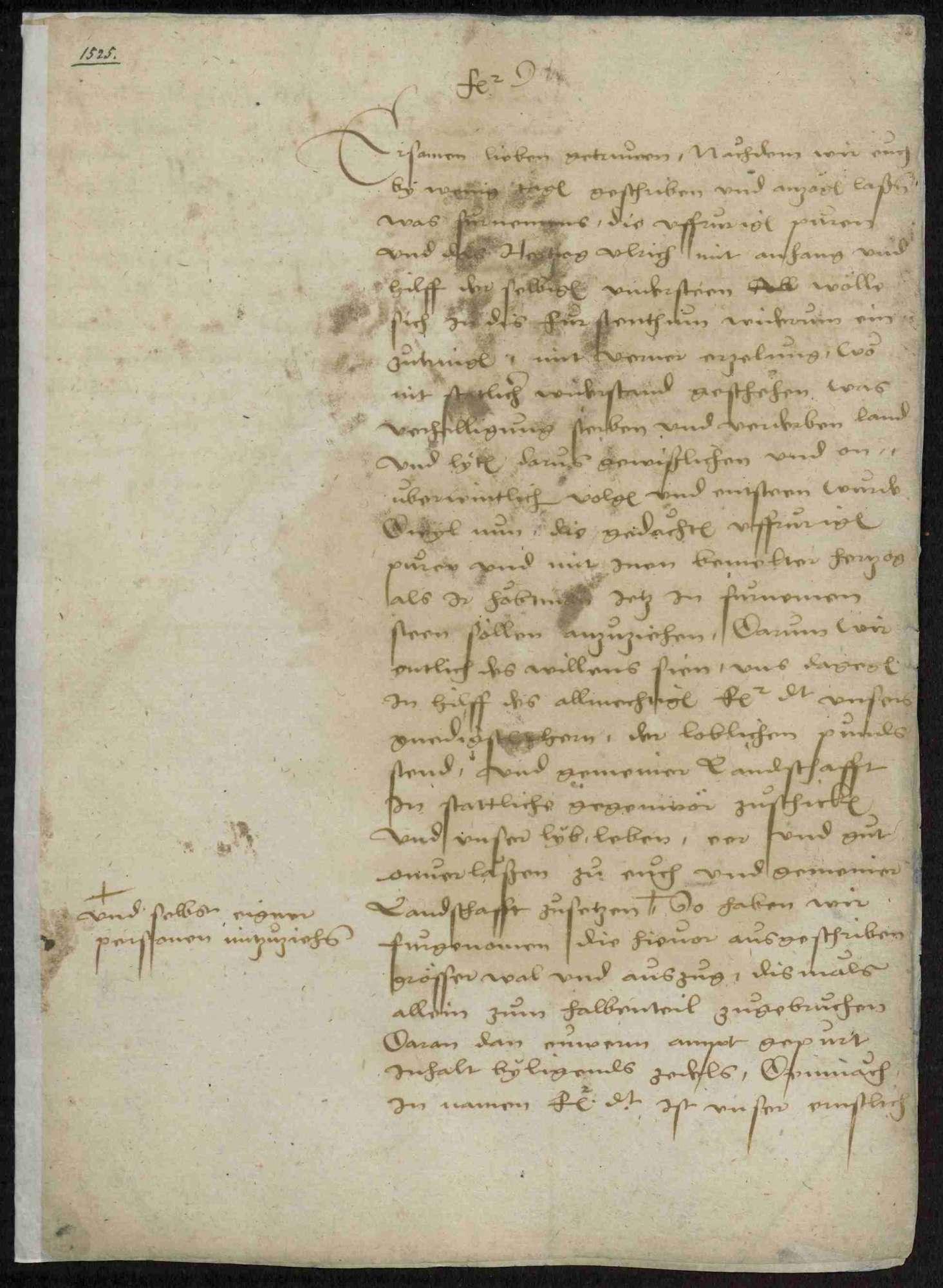 Schriften zu Vorgängen während des Bauernkrieges, u.a. Bauernkorrespondenz, Bild 2