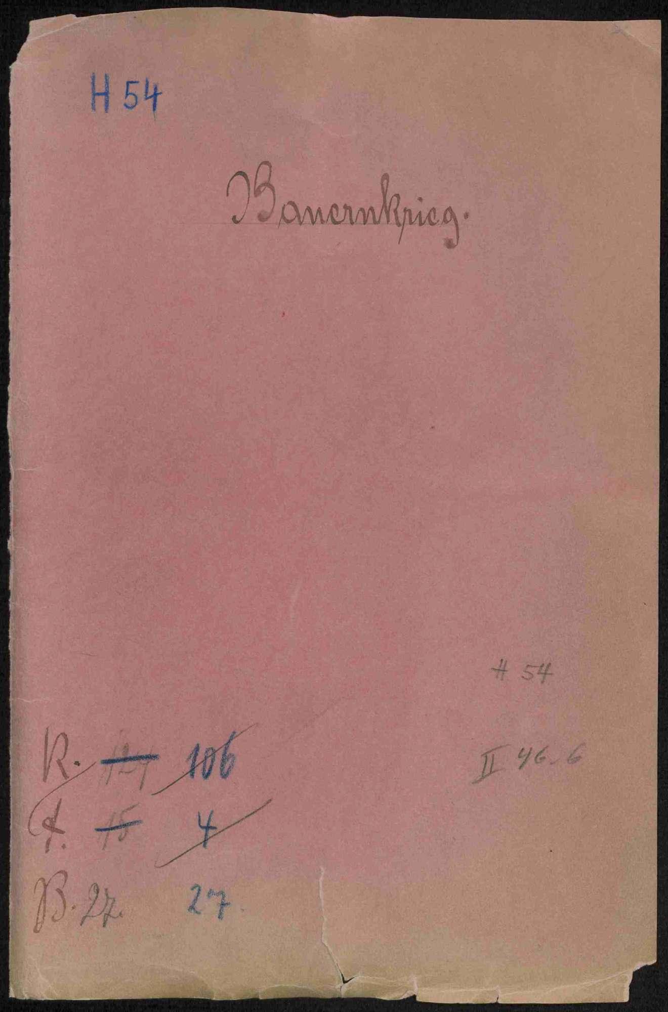 Vermischte Schriften zu Vorgängen während des Bauernkrieges und danach, Bild 1