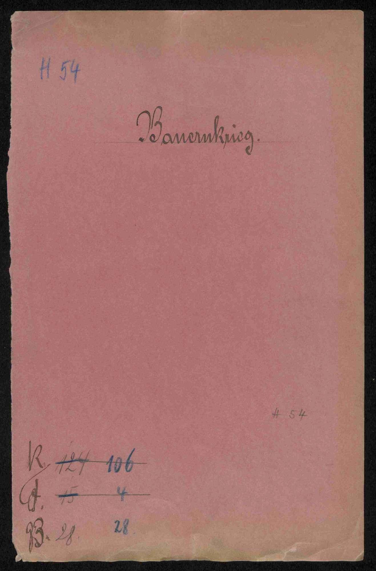 Ausschreibung der österreichischen Regierung an die Reichsstädte über das Wehrverbot; Entschädigungsklage des Klosters Rechentshofen gegen Hans Menckler von Bönnigheim, Bild 1