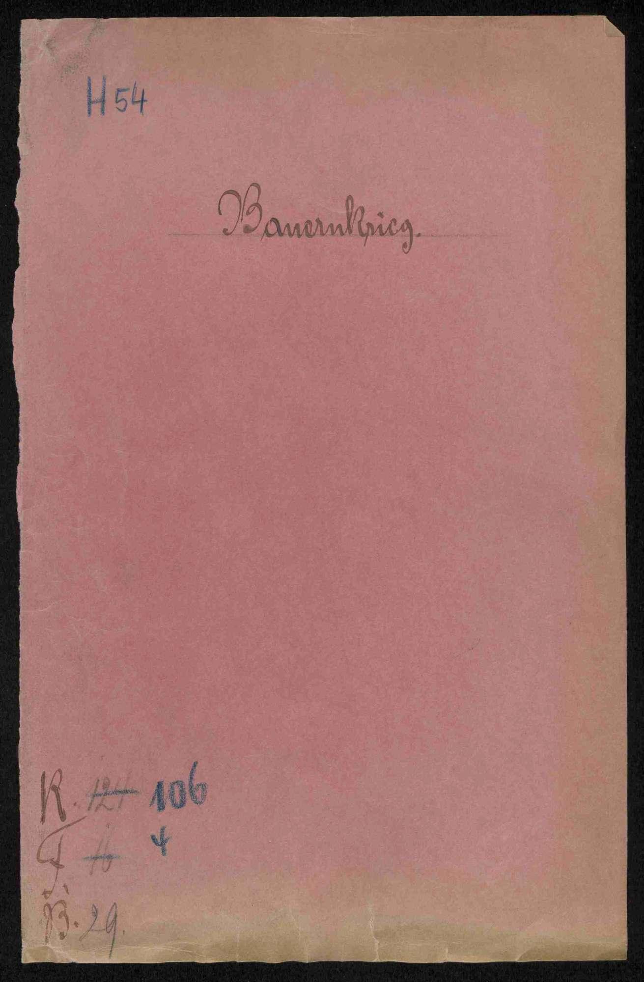 Strafnachlassgesuche ehemaliger Hauptmänner und am Bauernaufstand Beteiligter; Entschädigung des Klosters Hirsau gegen Untertanen von Brackenheim, Bild 1