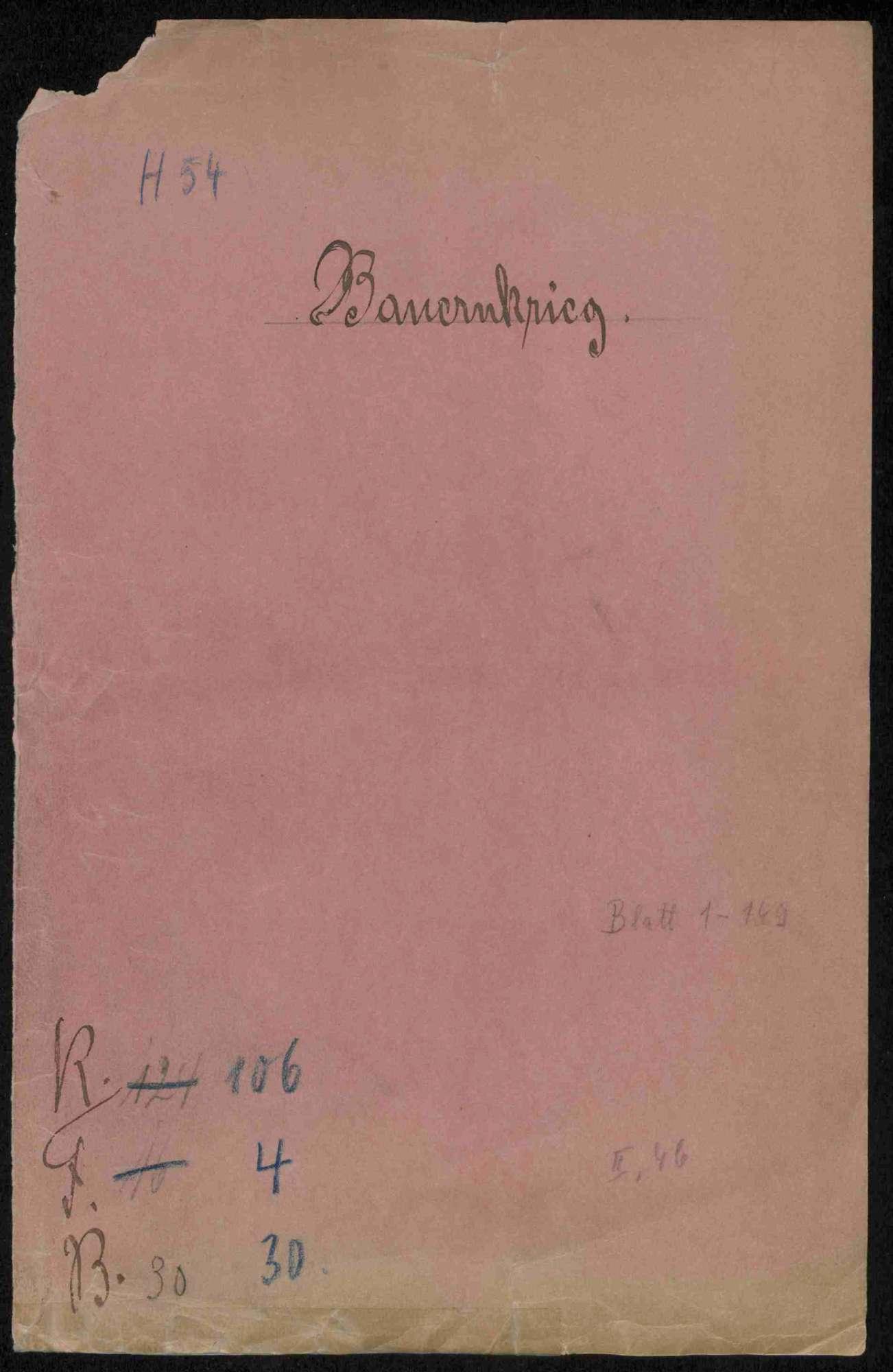 Entschädigungsklage der Stadt und des Stifts Herrenberg gegenüber württembergischen Städte und Ämter, Bild 1