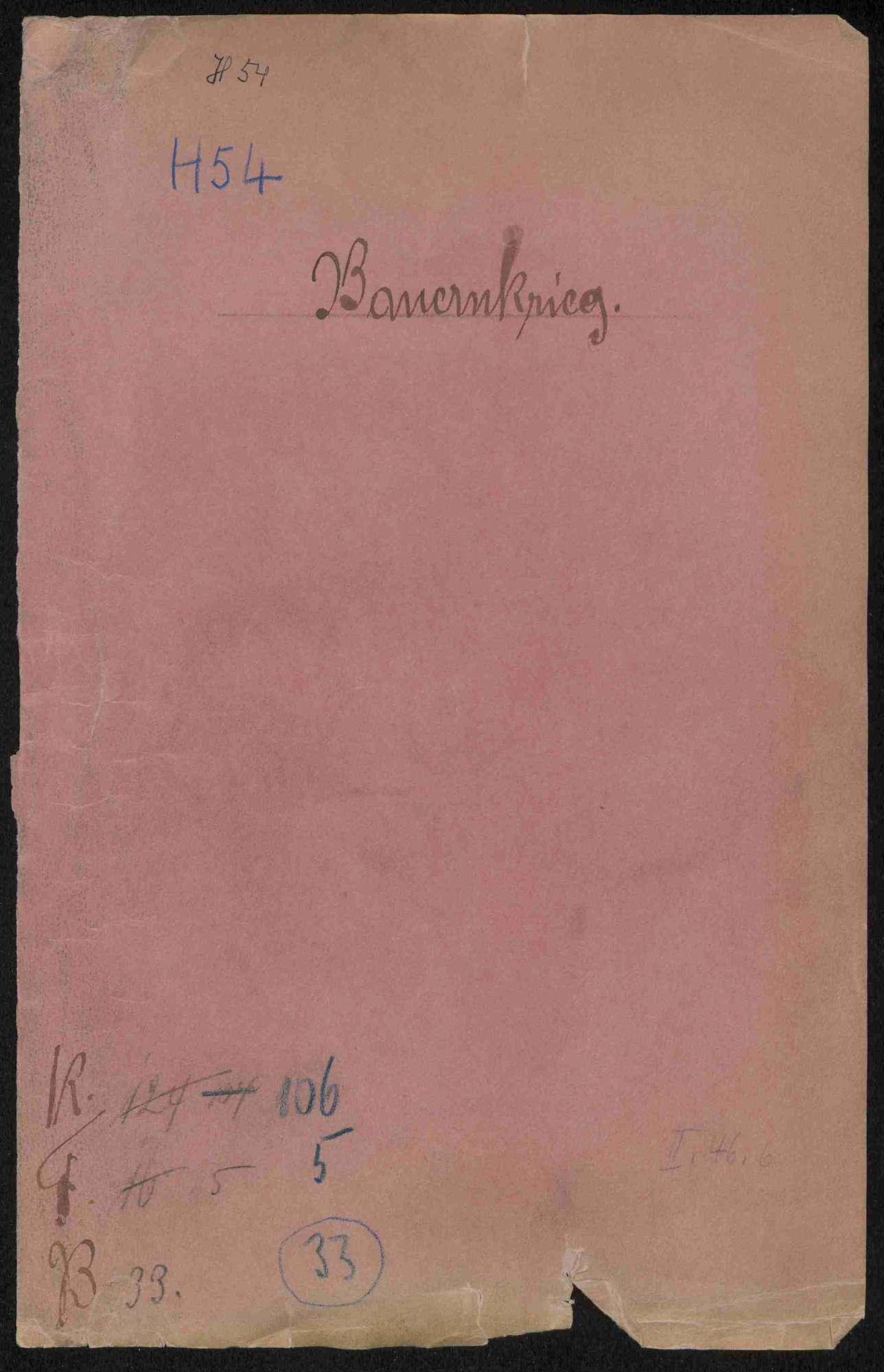 Entschädigungsklagen von Geistlichen, Adeligen und Privatpersonen gegen württembergische Gemeinden bzw. Untertanen, Teil I, Bild 1