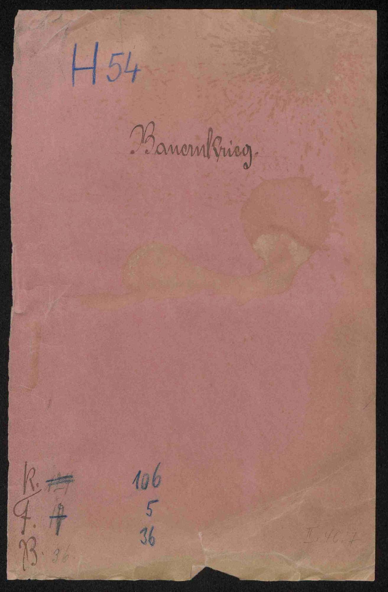 Entschädigungsklagen weltlicher und geistlicher Stände; Strafnachlass für Bauernanführer Hans Menckler von Bönnigheim, Bild 1