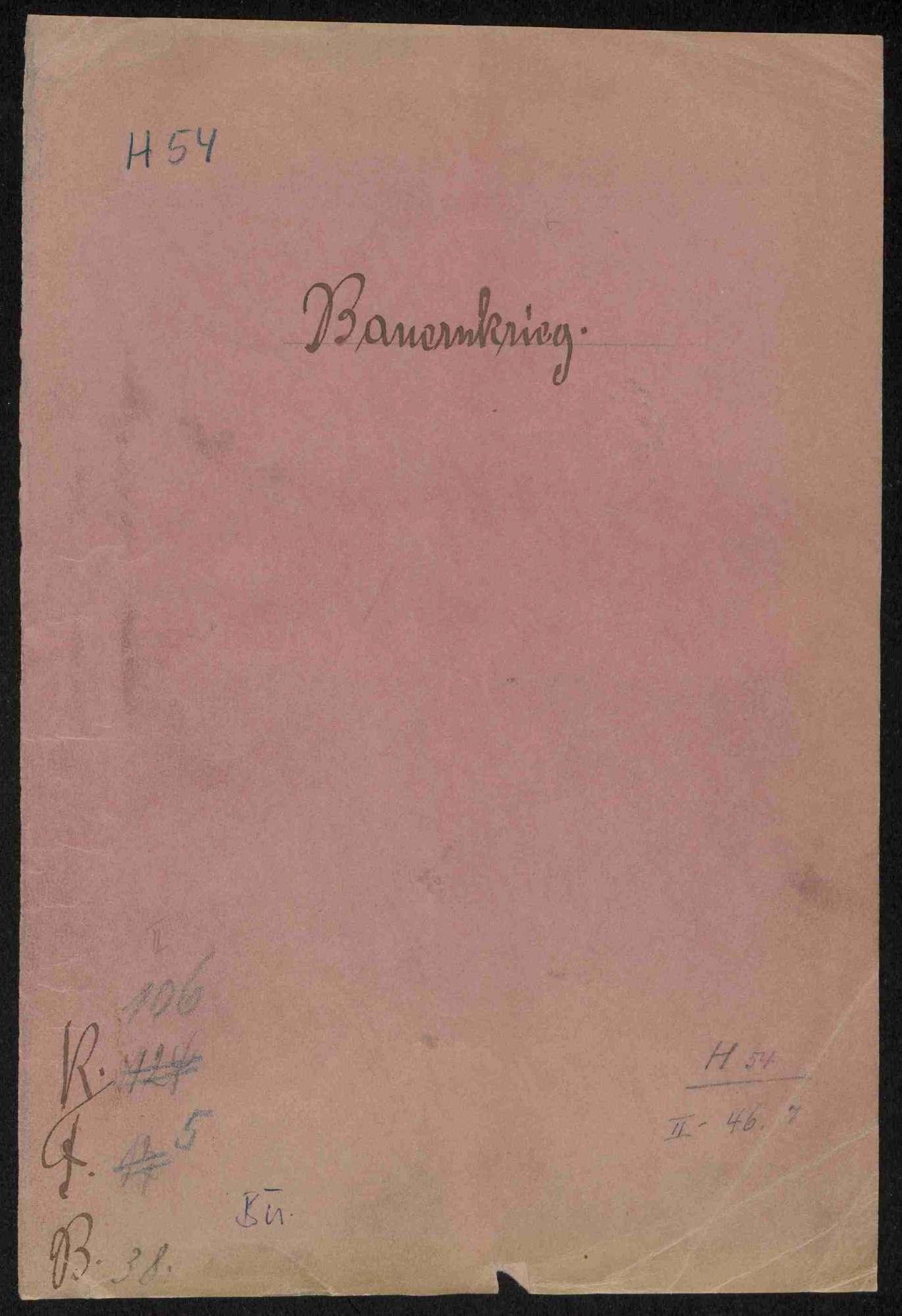 Supplikationsverfahren des Bauernhauptmanns Theis Gerber gegen die Magistratsräte von Stuttgart, Bild 1
