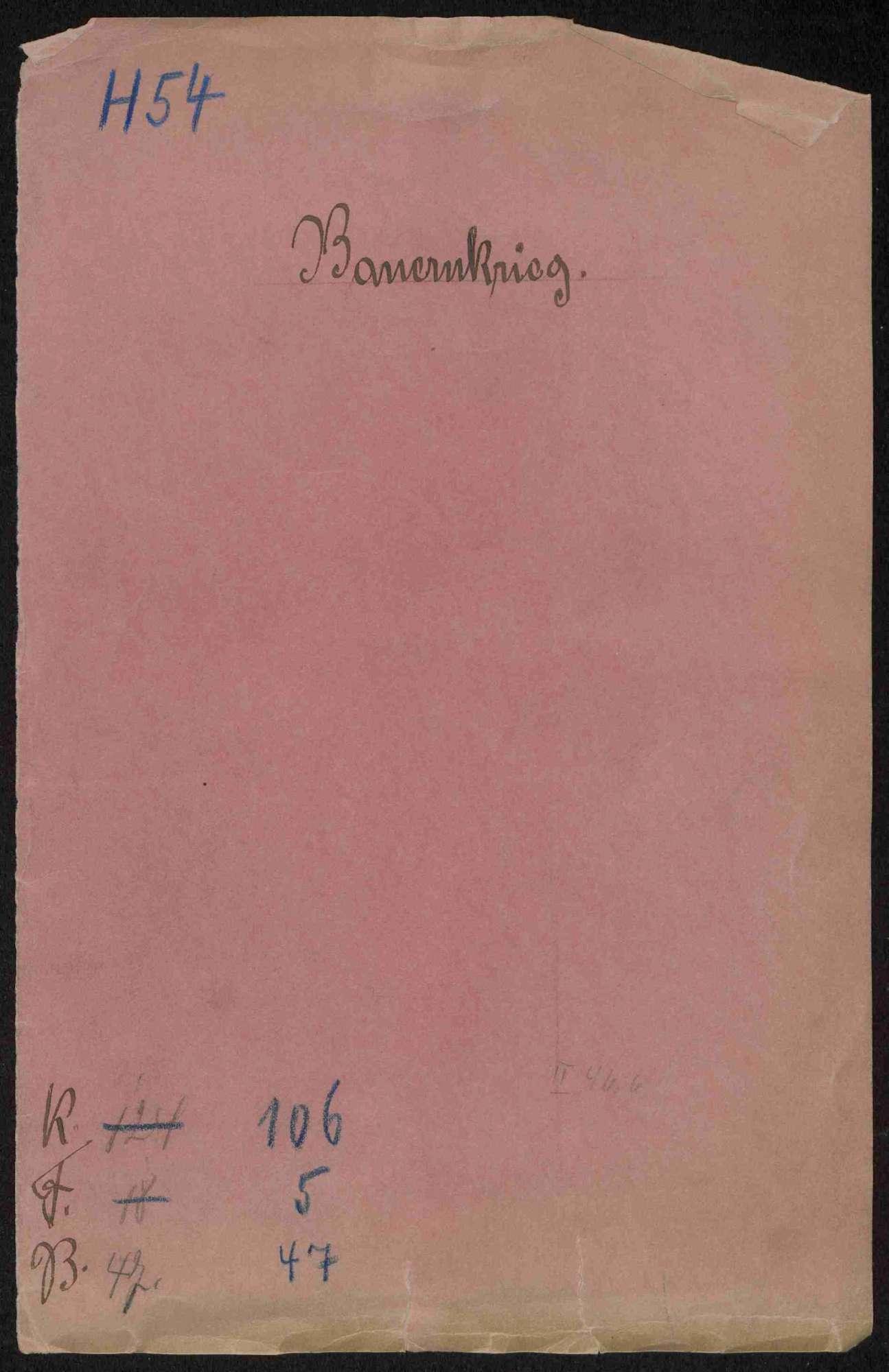 Schriftwechsel des Abts Gerwig von Weingarten, Bild 1