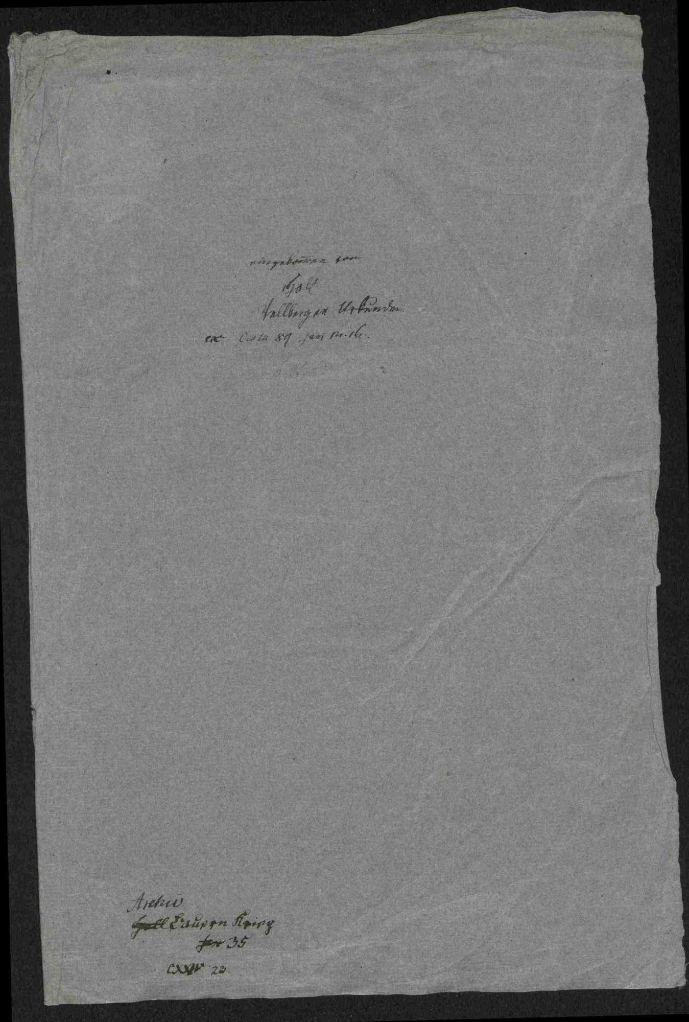 Fünf Schreiben an Junker Wolf von Vellberg wegen der Bedrohung durch die Bauern und Vellbergs Übertritt zu den Aufrührern, Bild 2