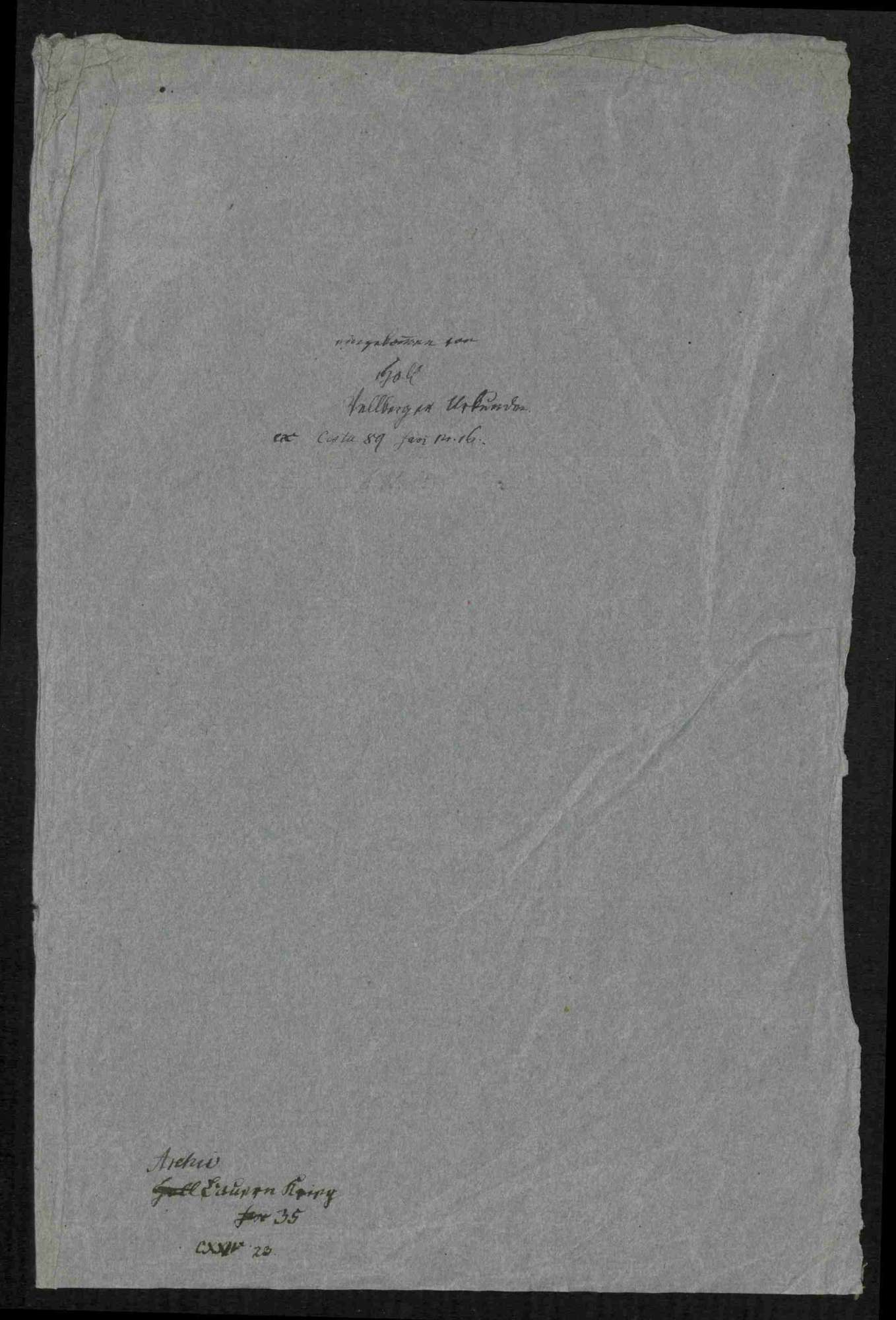 Fünf Schreiben an Junker Wolf von Vellberg wegen der Bedrohung durch die Bauern und Vellbergs Übertritt zu den Aufrührern, Bild 3