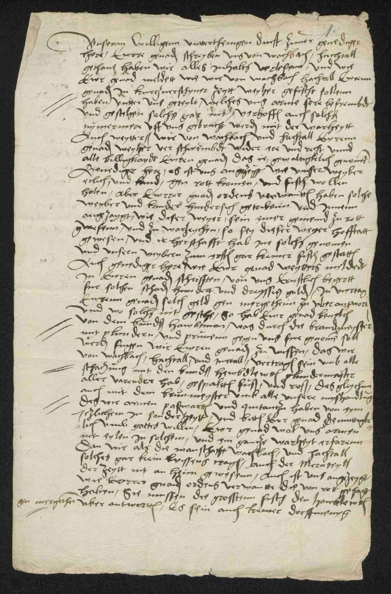 Bestrafung, Brandschatzung und Huldigungen der deutschherrischen Gemeinden und Untertanen, 1525-1530, Bild 2