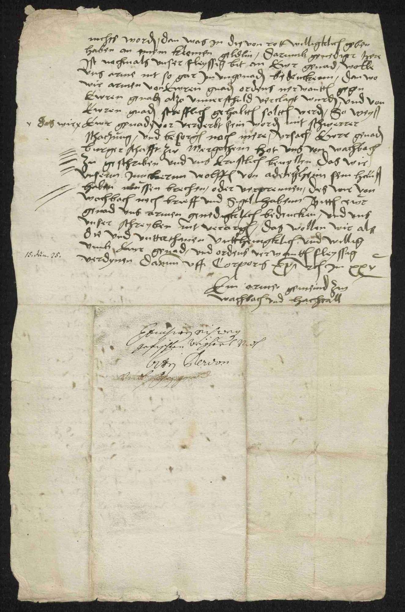 Bestrafung, Brandschatzung und Huldigungen der deutschherrischen Gemeinden und Untertanen, 1525-1530, Bild 3