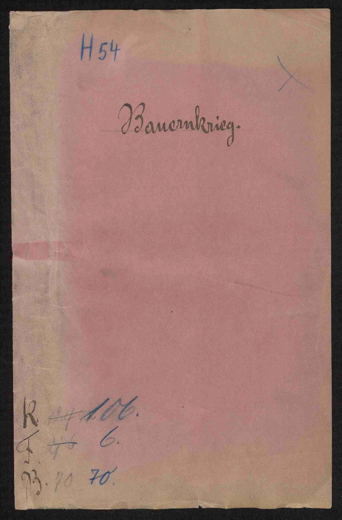 Strafverfahren gegen deutschherrische Rädelsführer und Aufständische, Teil II, Bild 1