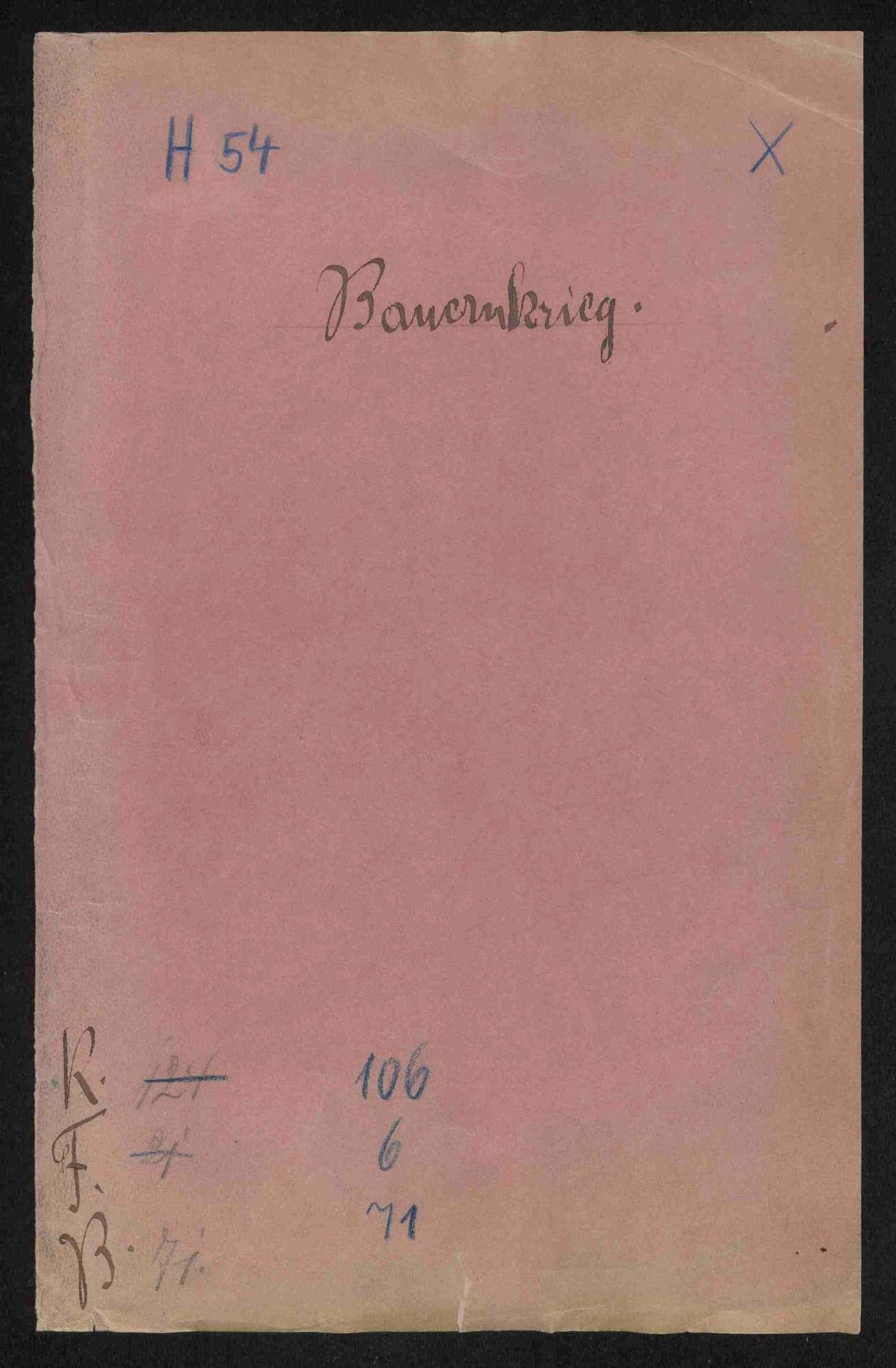 Strafverfahren gegen deutschherrische Rädelsführer und Aufständische, Teil III, Bild 1