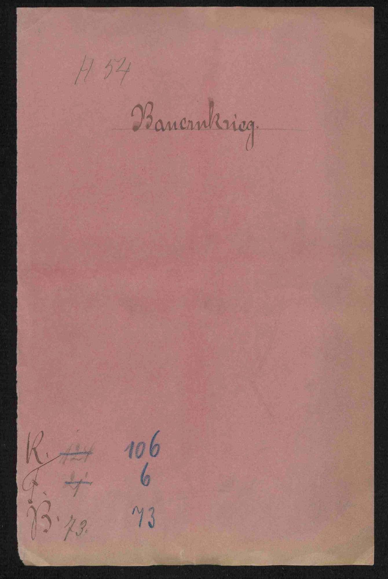 Entschädigungsforderungen und Brandschatzungen gegen die deutschherrischen Orte und die im Jahre 1528 gegen den Deutschen Orden zusätzlich geforderten Hilfsgelder durch die Kurpfalz, Bild 1