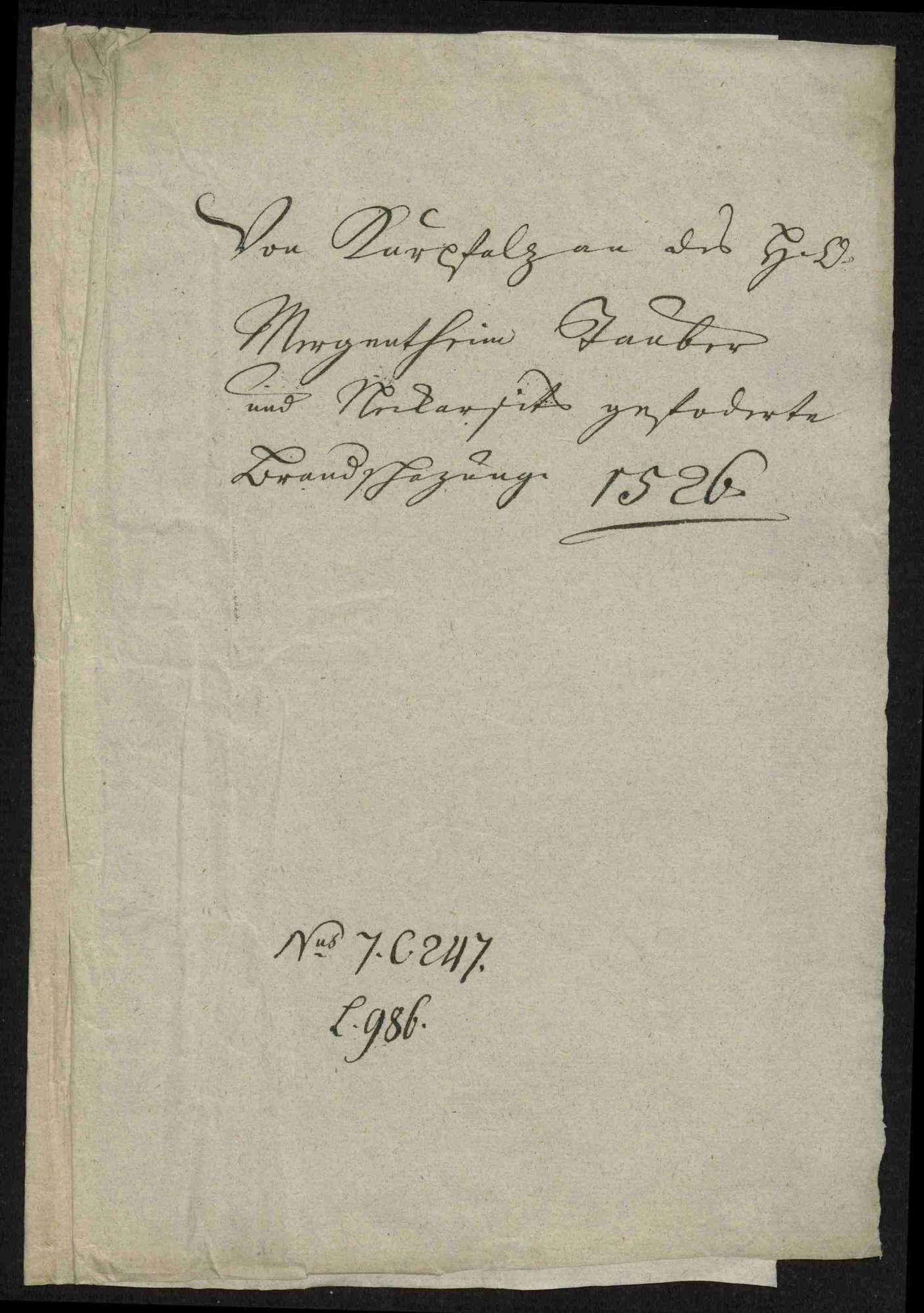 Entschädigungsforderungen und Brandschatzungen gegen die deutschherrischen Orte und die im Jahre 1528 gegen den Deutschen Orden zusätzlich geforderten Hilfsgelder durch die Kurpfalz, Bild 3