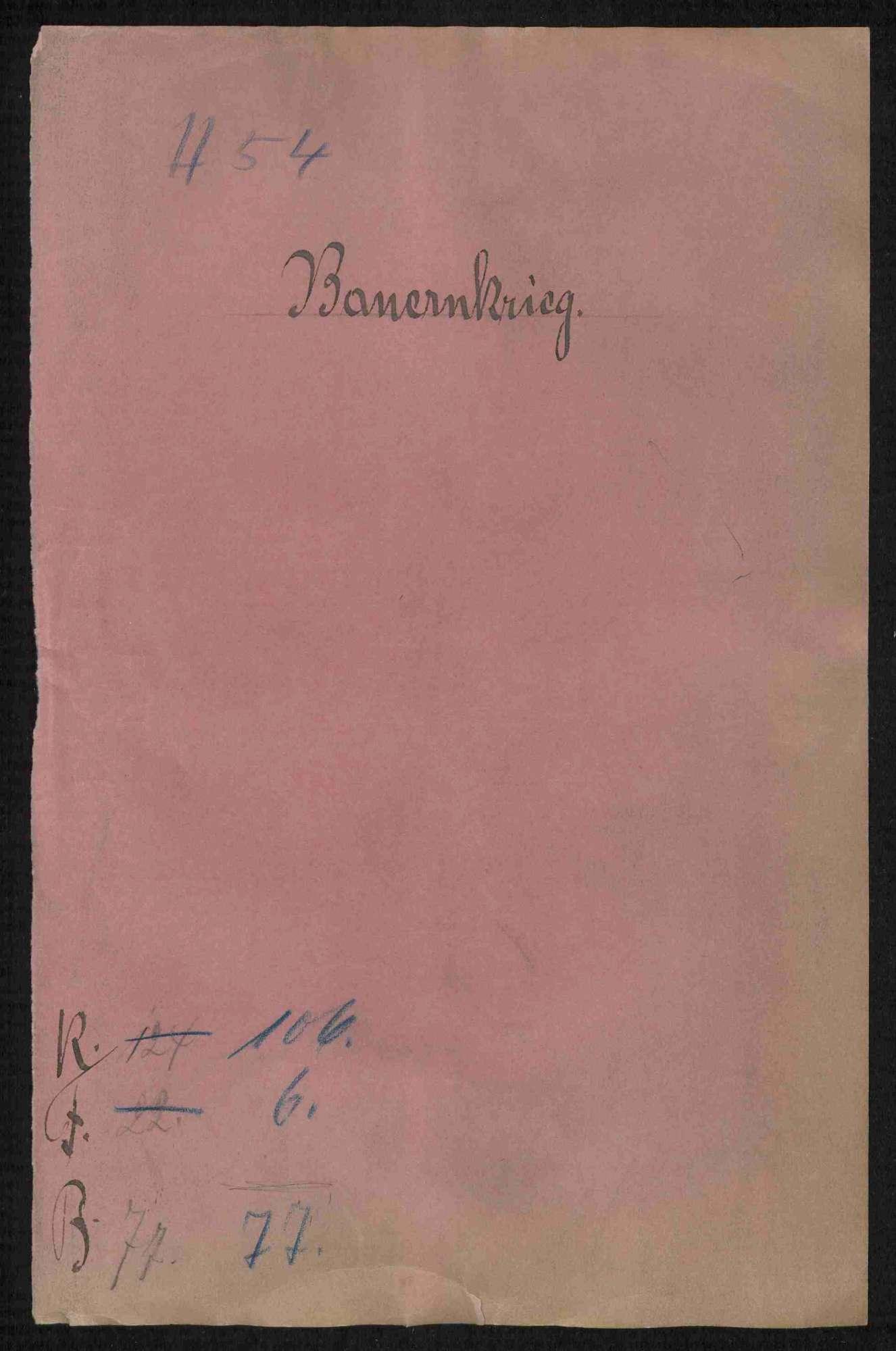 Entschädigungsforderungen zwischen dem Deutschen Orden und benachbarten Adeligen und Gemeinden, Teil I, Bild 1