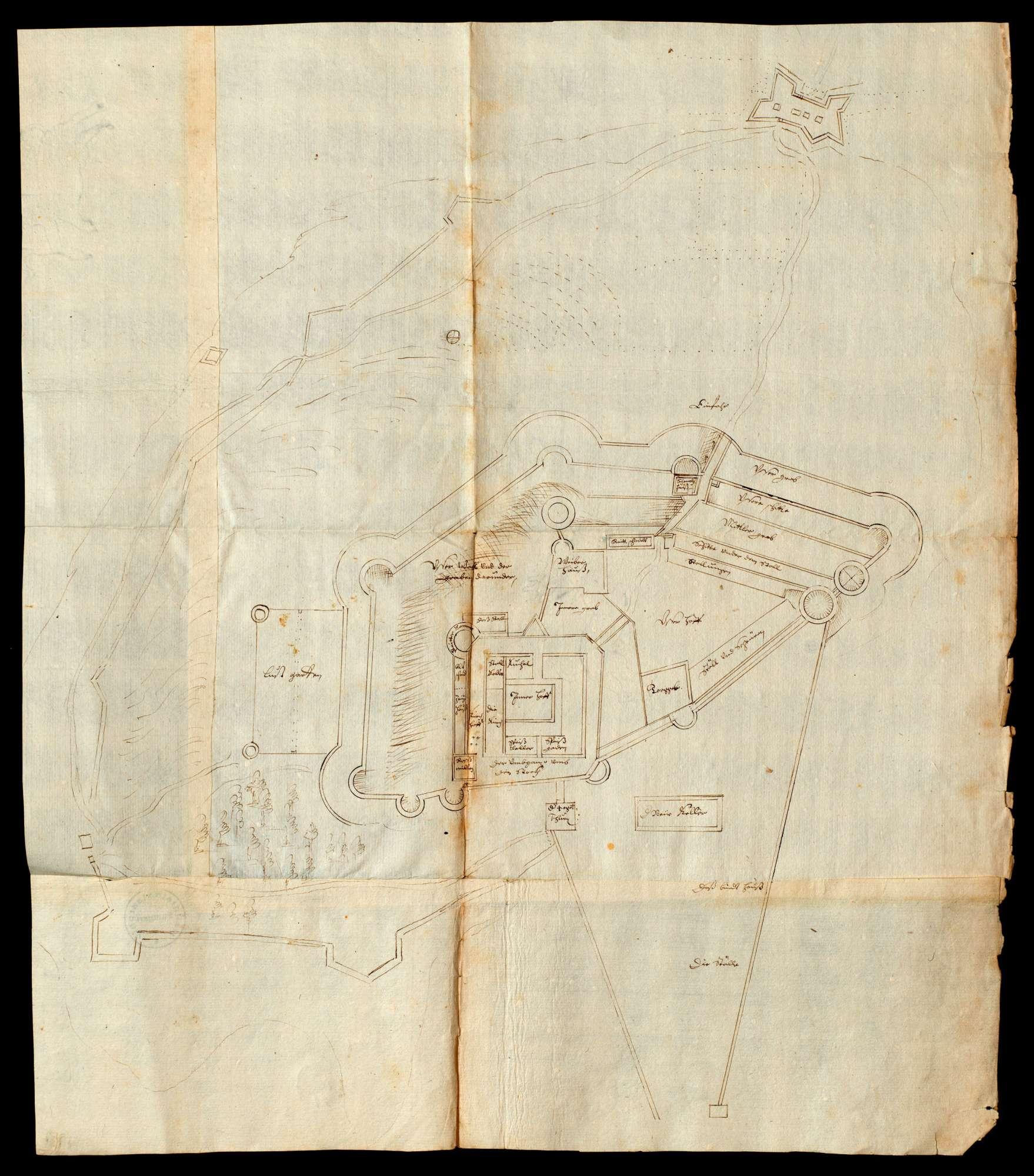 Insel Mainau Karte.Drei Grundrisse Der Insel Mainau Je Mit Angabe Der Teile Der Burg