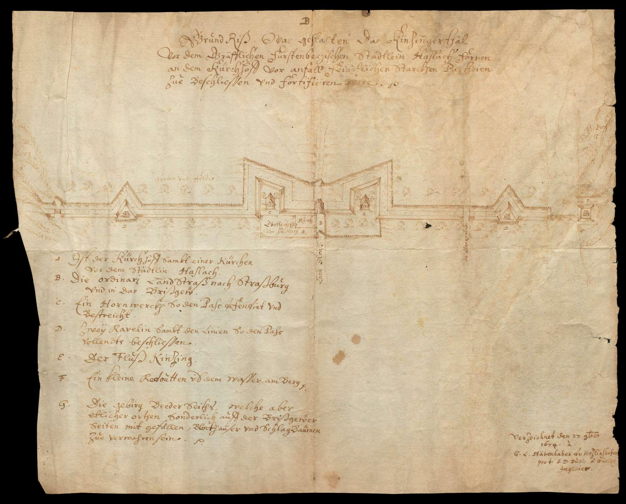 Grundriss des Kinzigertals vor dem gräflichen Fürstenberg, Bild 1