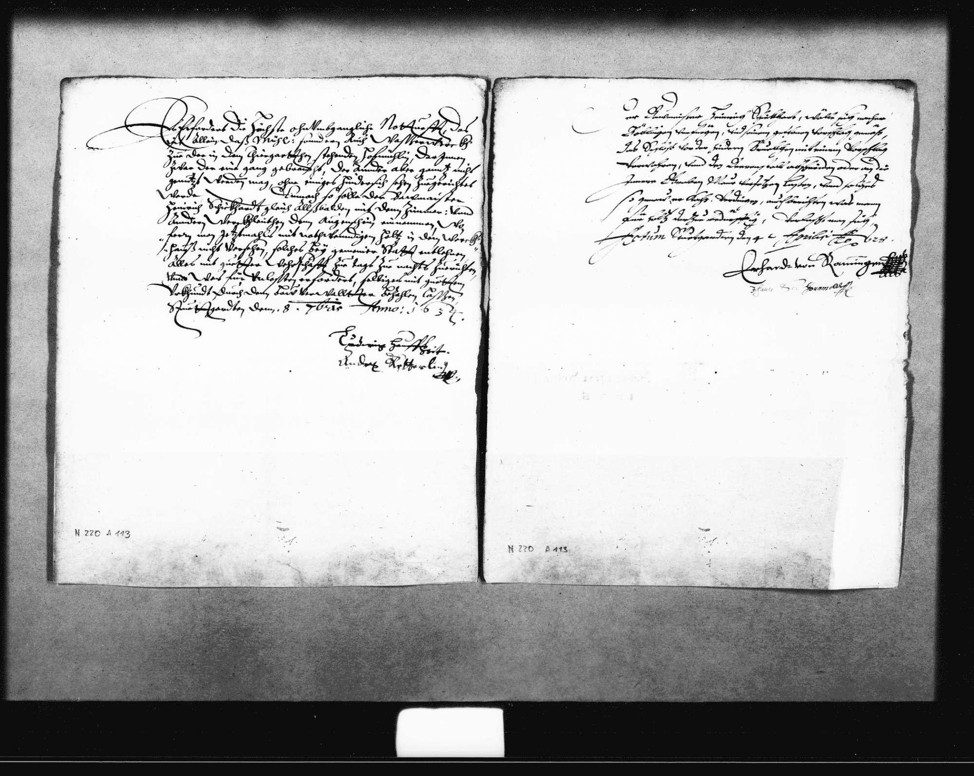 Reskripte der Rentkammer an Schickhardt, Bild 1