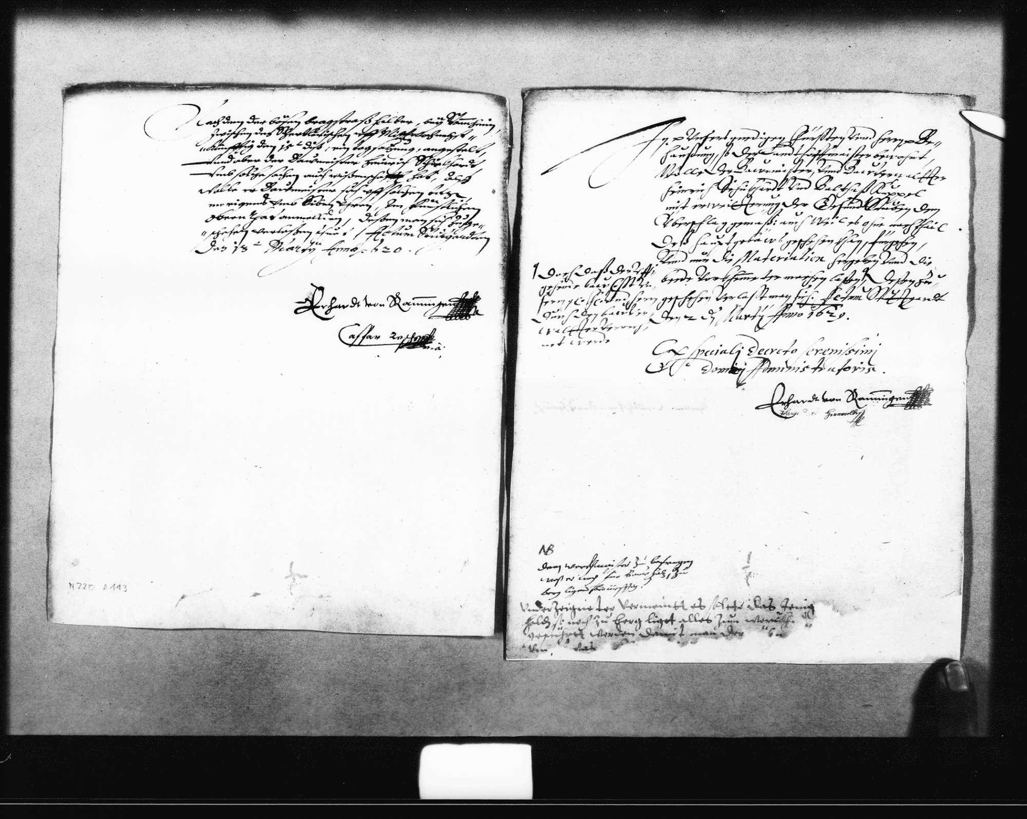 Reskripte der Rentkammer an Schickhardt, Bild 3