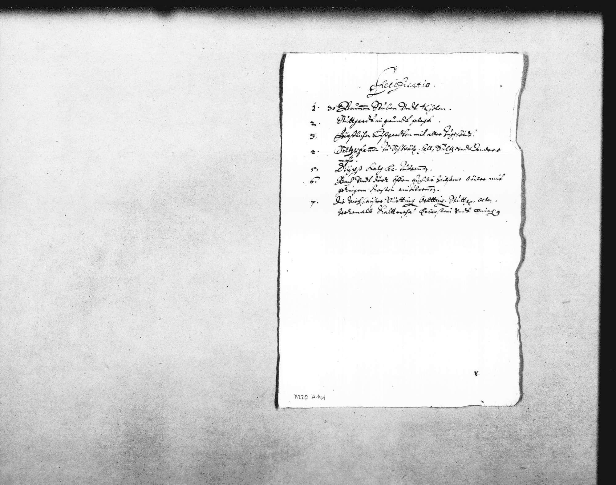 Johann Martin Hiller, Ehemann der Enkelin Heinrich Schickhardts, bietet dem Herzog Eberhard bzw. der Rentkammer die Sammlung von Manuskripten und Plänen Heinrich Schickhardts an, Bild 3
