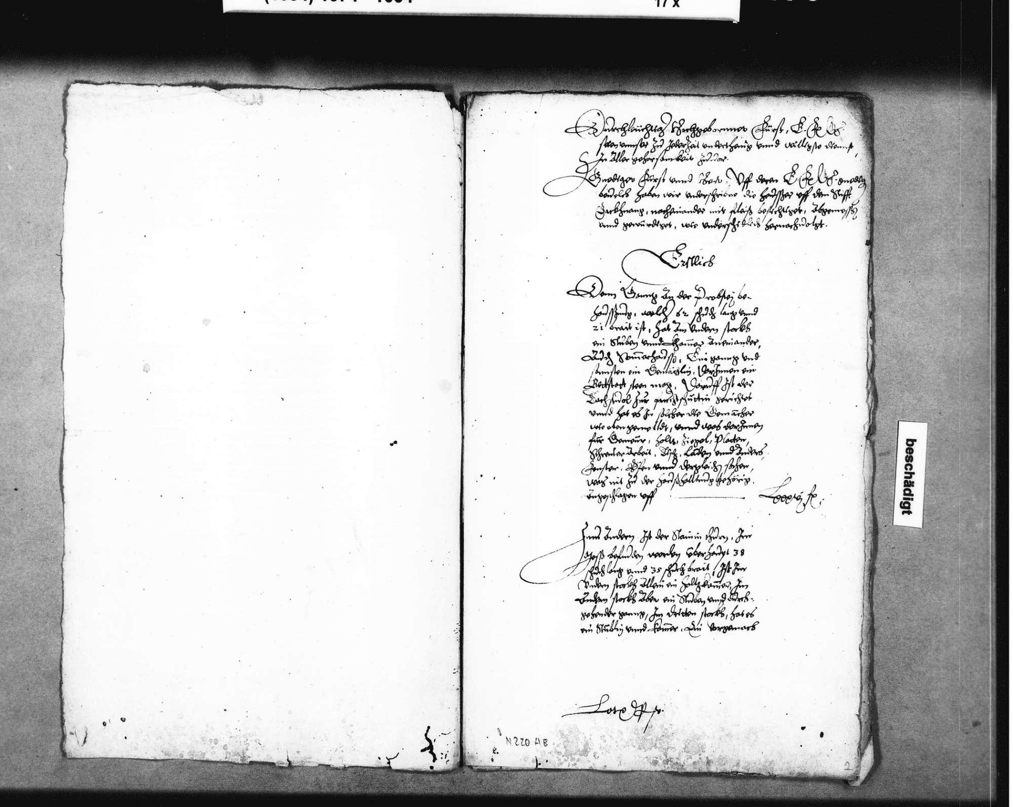 Kostenschätzung für den Abbruch der Stiftshäuser in Backnang für den Neubau des Schlosses, gefertigt von Elias Guntzenhäuser u. a., Bild 2