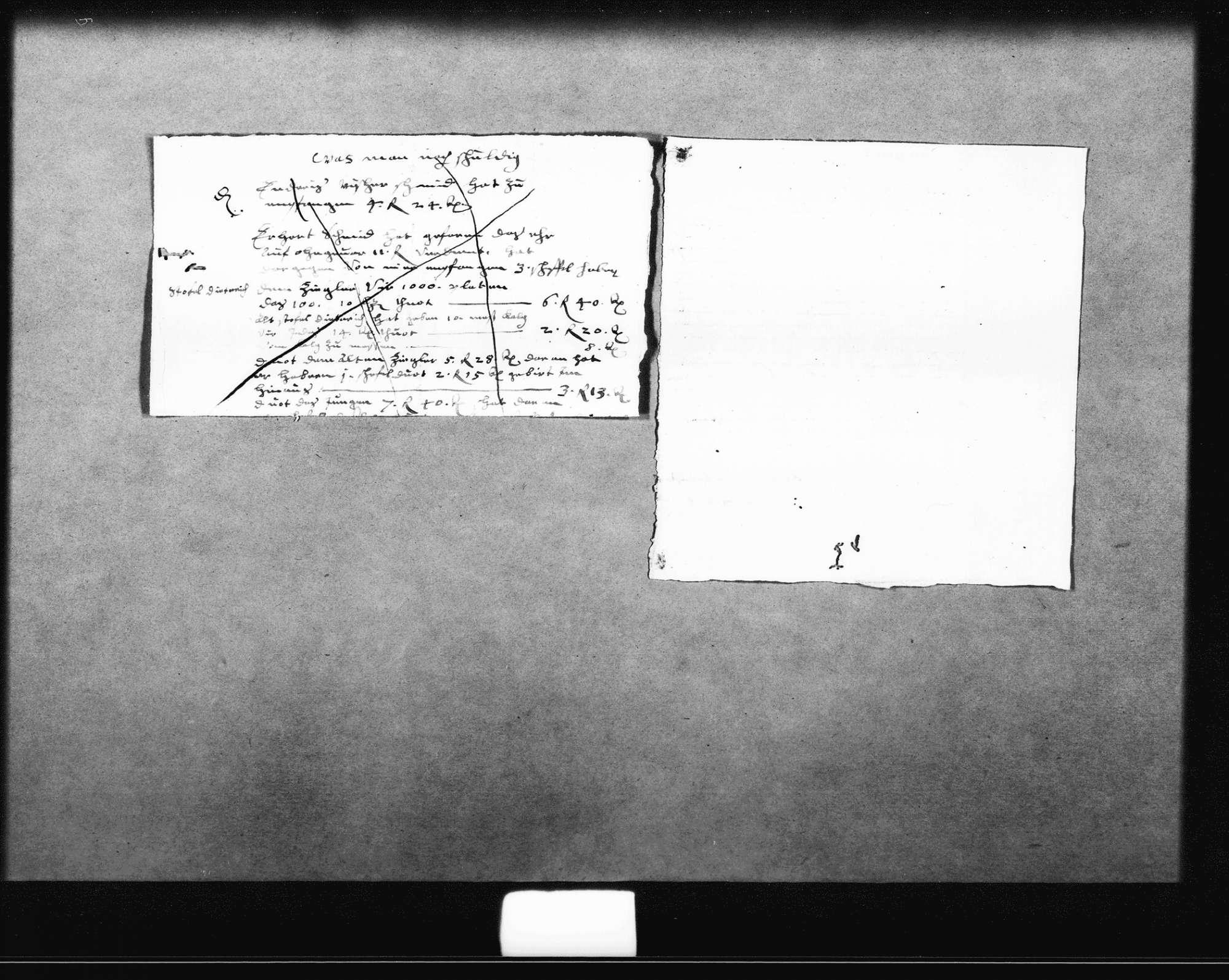 Notizen, Entwürfe und Rechnungen für ein Gutachten zu Unstimmigkeiten bei der Abrechnung der Baukosten (u. a. für das Haus des Superattendenten) durch Christoph Seiler, Zimmermann, zum Teil o. D. (3 Oktav, Quart, Folio Doppelblatt) und datiert 24. September 1629 (Quart), 2. Oktober 1629 (Quart), 1631 (Folio), Bild 2