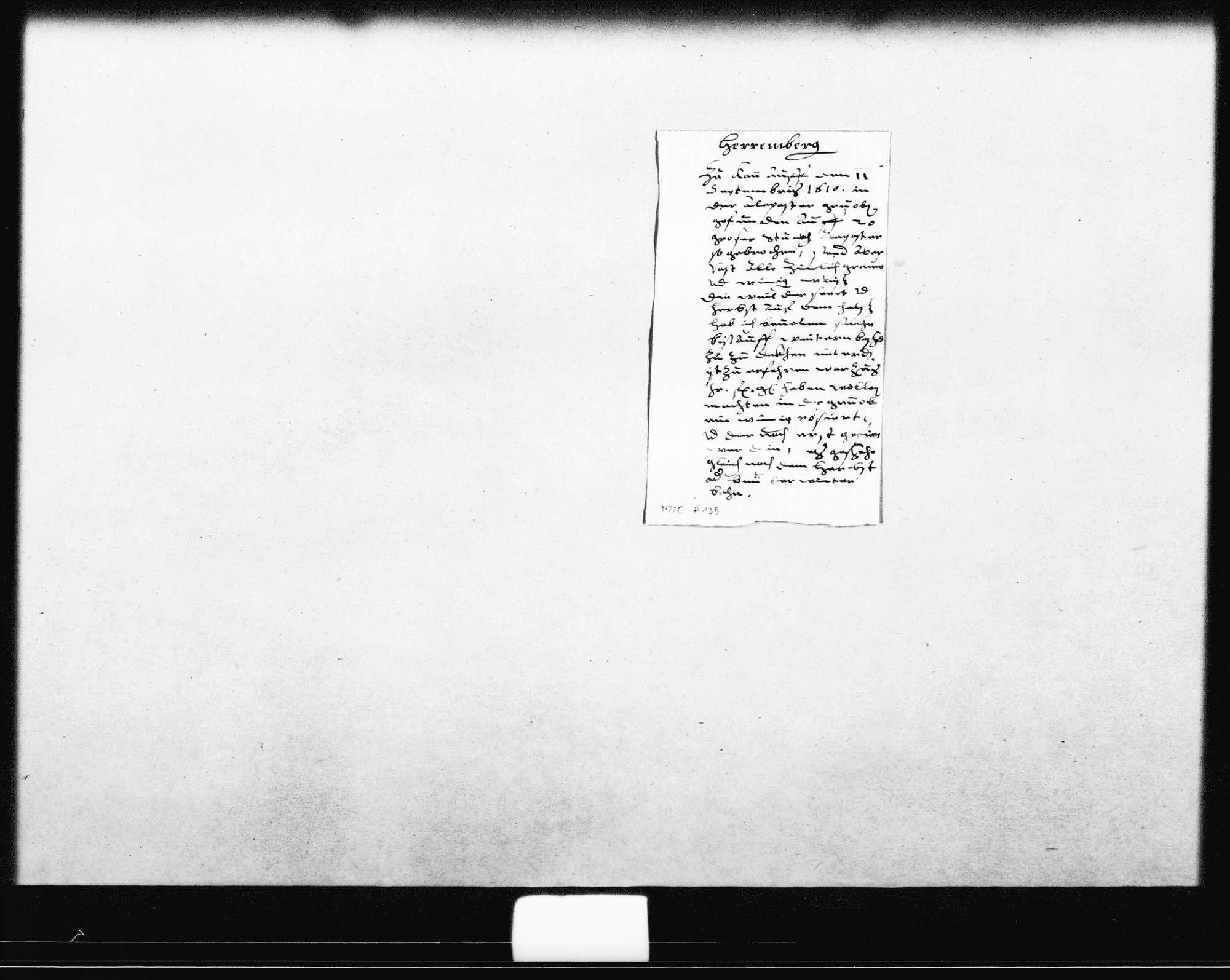 Notiz zum Fund einer Alabastergrube in Kayh bei Herrenberg (Oktav), Bild 1