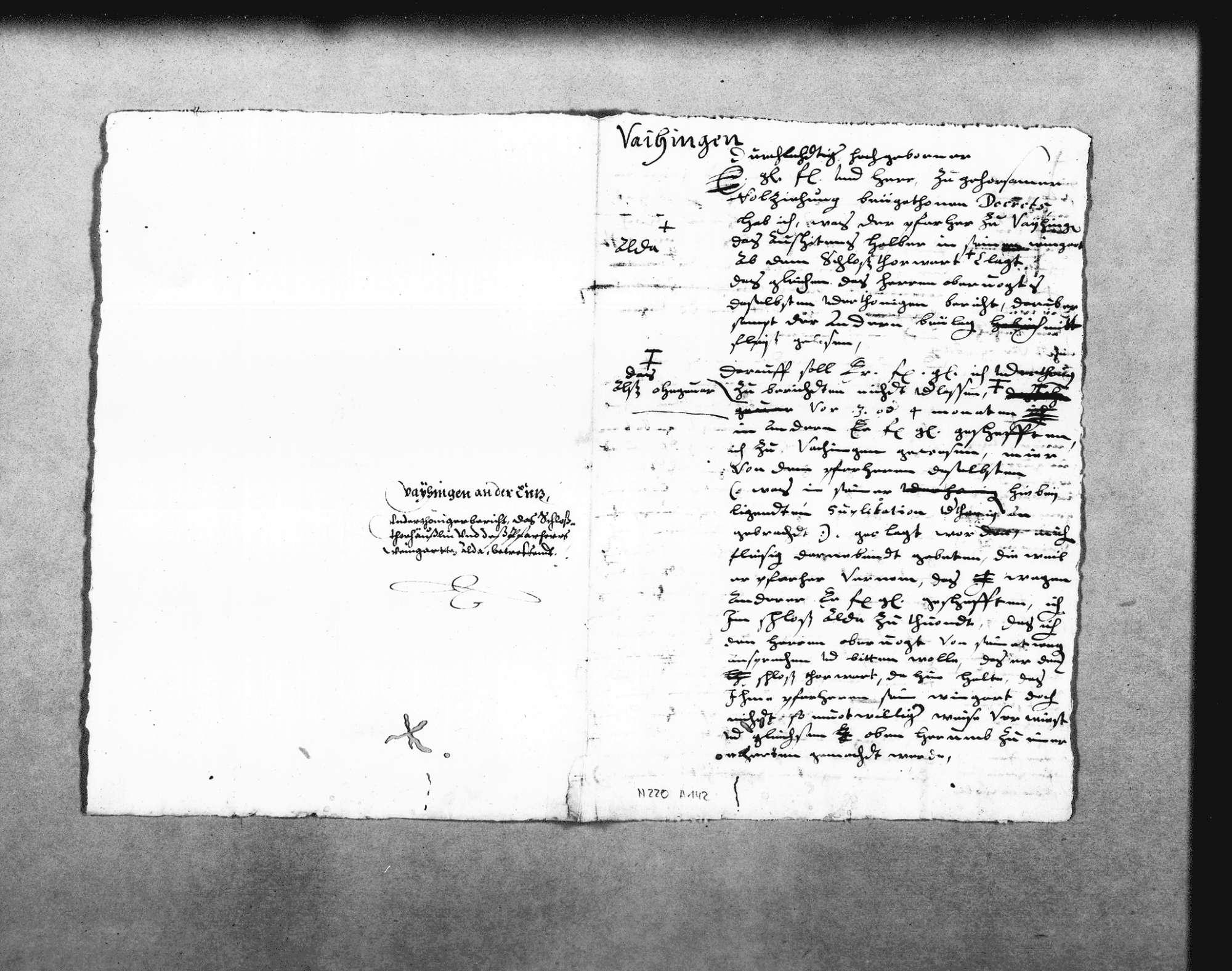 Klage des Pfarrers in Vaihingen gegen den Schlosstorwart, Bild 1