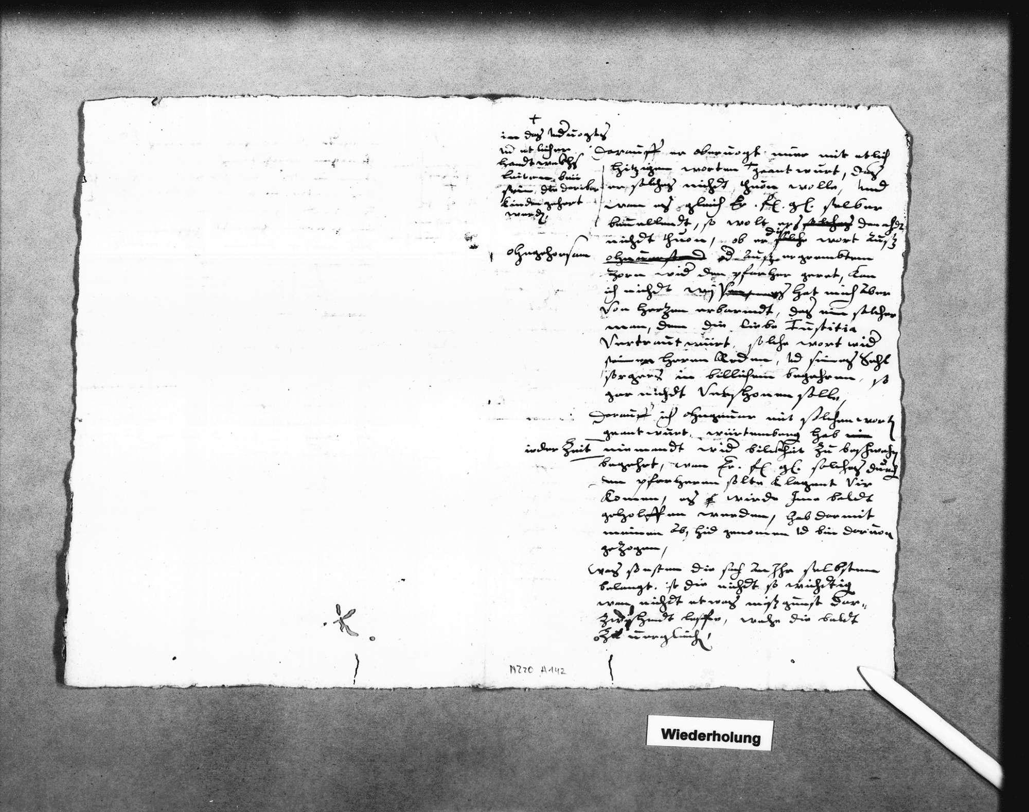 Klage des Pfarrers in Vaihingen gegen den Schlosstorwart, Bild 3