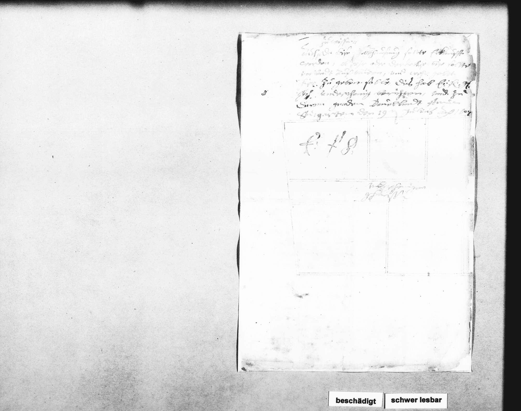 Gutachten Schickhardts über ein für 300 fl. von Jacob Plechlin aus Diezersweiler gekauftes Haus und dessen Eignung als Fruchtscheuer, Bild 2