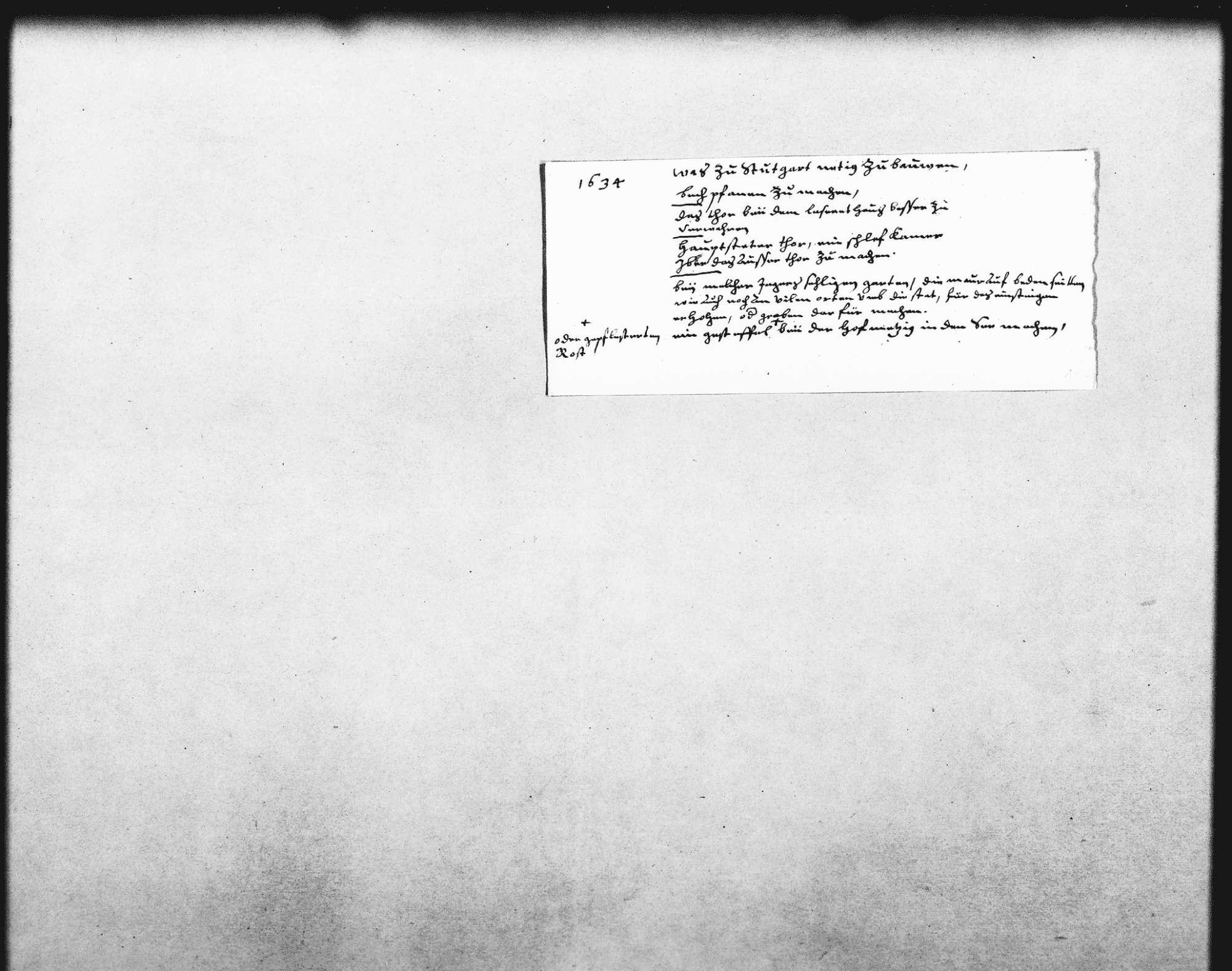 Notizen zu Instandsetzungsarbeiten an den Toren und zu dem Grundstück beim Garten des verstorbenen Melchior Jäger (Quart), Bild 1
