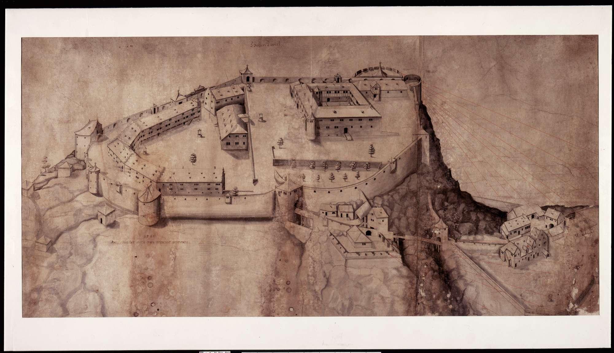 Ansicht der Festung Hohentwiel, Bild 1