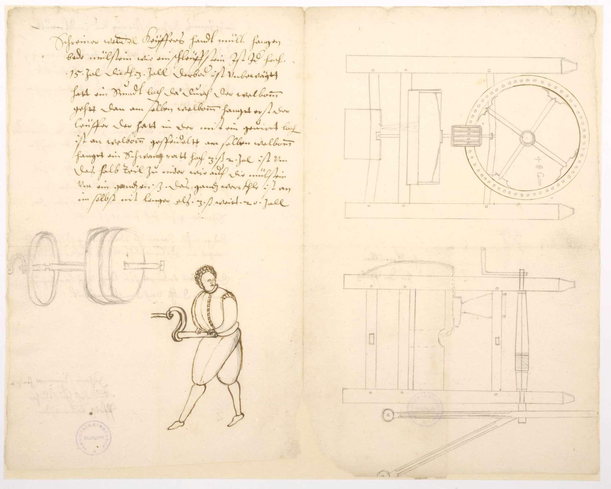 Handmühle von Johann Steinmer, Baumeister des Herzogs Ludwig (Philipp) von der Pfalz, Bild 2
