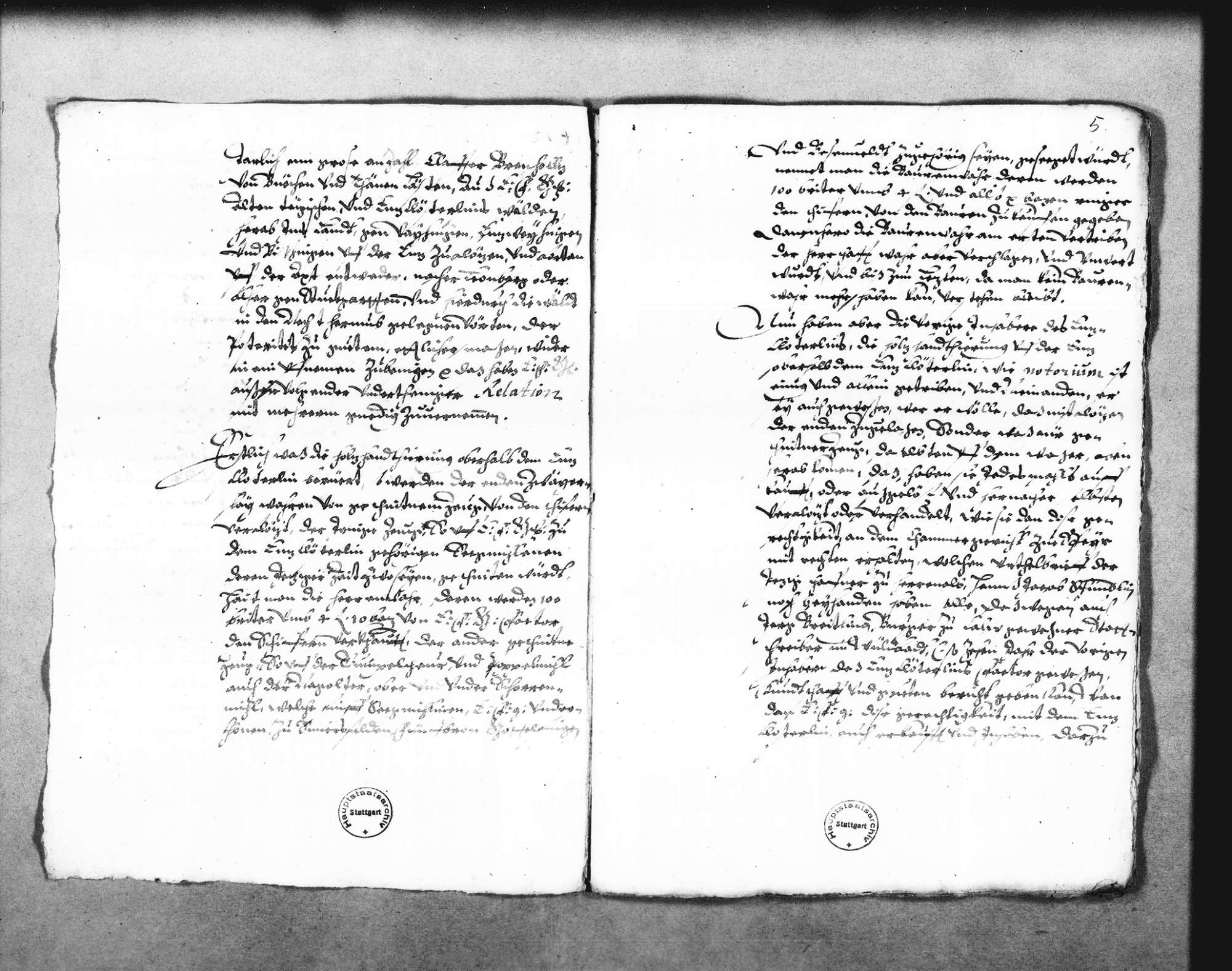 """Bericht über das Flößen von """"geschniten zeugs"""" und Brennholz bei Enzklösterle aus dem Altensteiger Forst (Folioheft), Bild 2"""