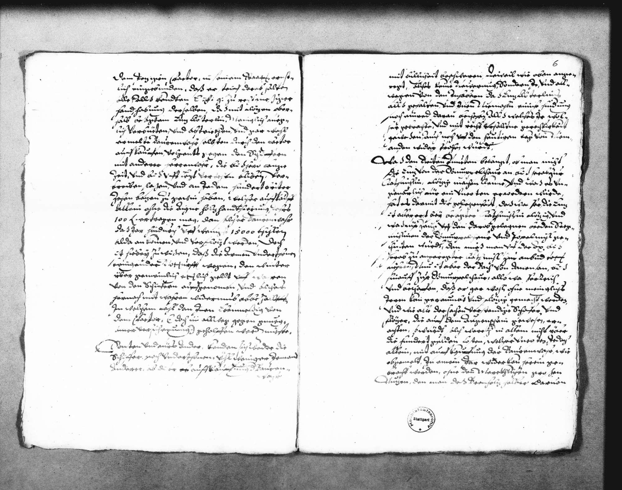 """Bericht über das Flößen von """"geschniten zeugs"""" und Brennholz bei Enzklösterle aus dem Altensteiger Forst (Folioheft), Bild 3"""