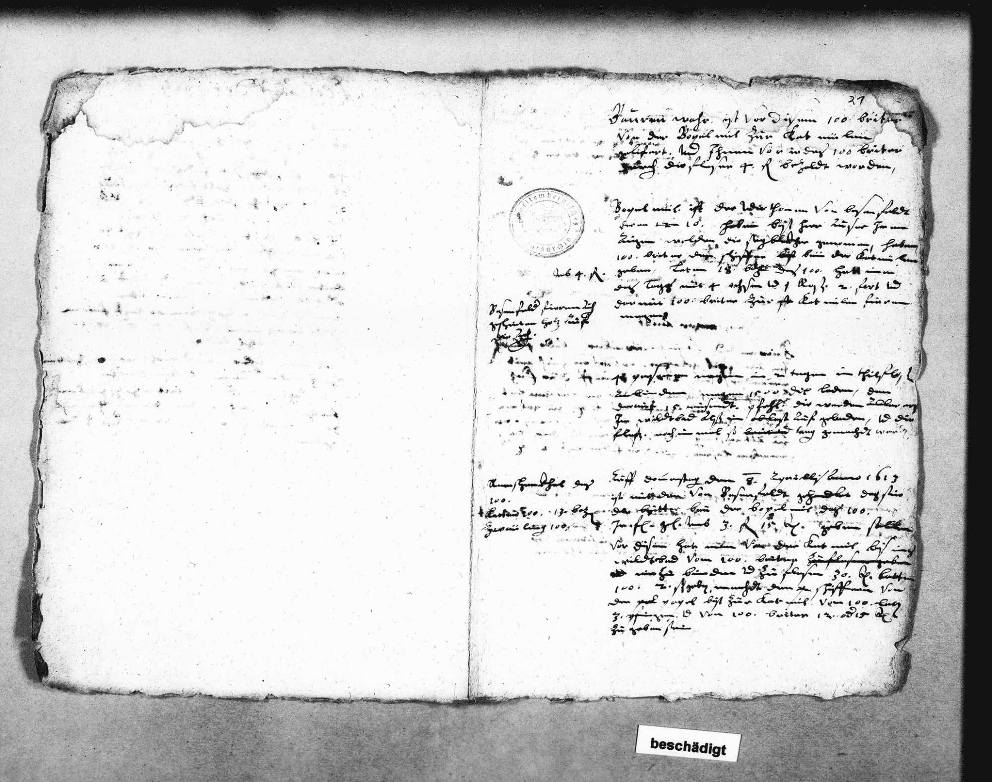 Flößen von Göttelfingen, Simmersfeld, Fünfbronn, Enzklösterle und Poppelmühel; Berechnungen über Floßlasten (2 Folio Doppelblatt), Bild 3