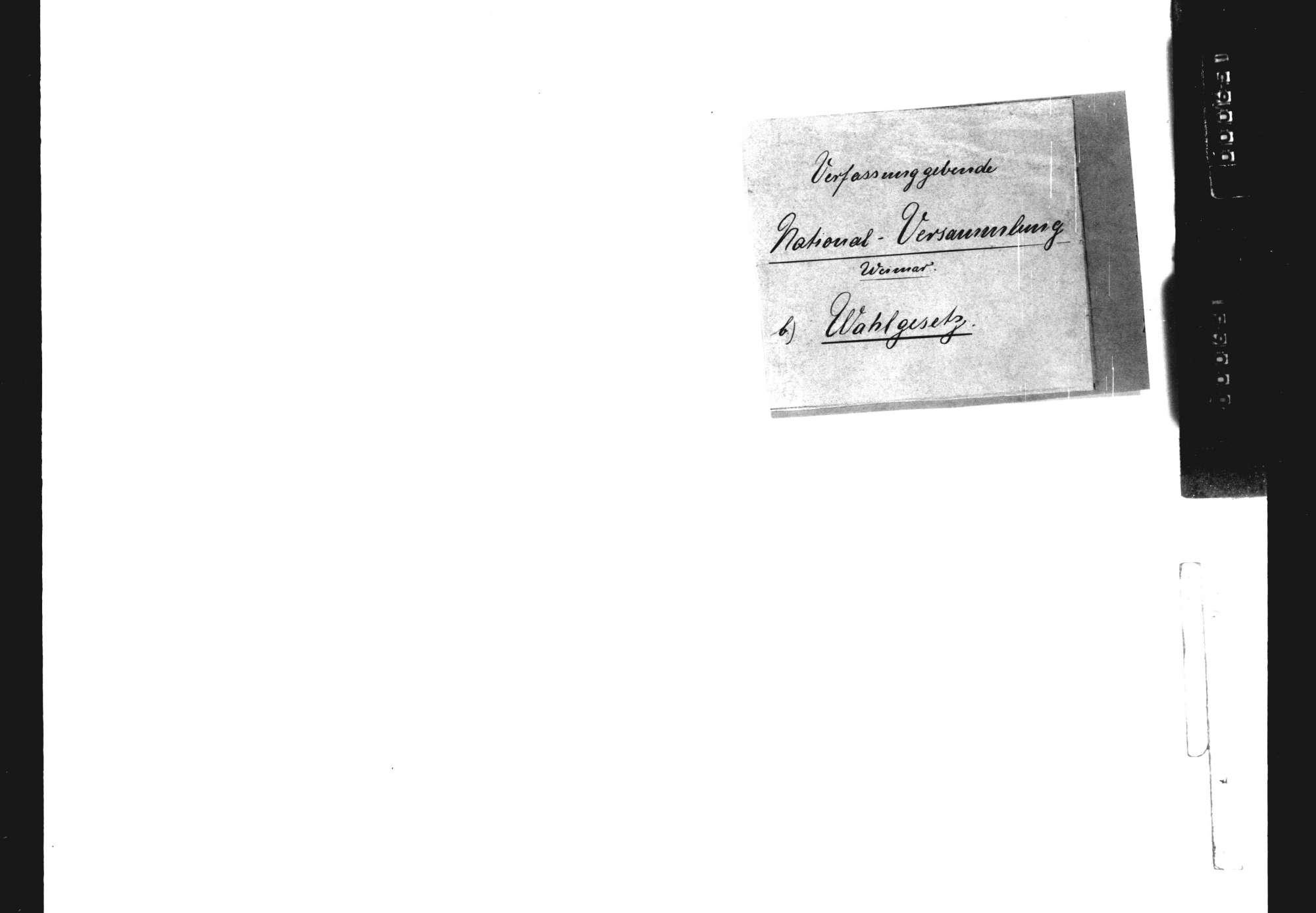 Nationalversammlung: Wahlgesetz, Bild 1
