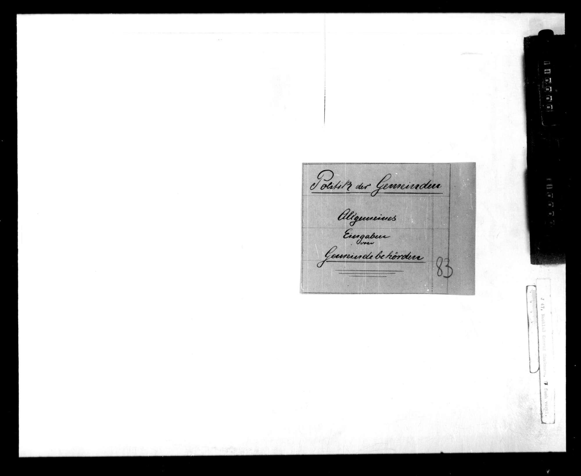 Allgemeines: Eingaben von Gemeindebehörden, Bild 1