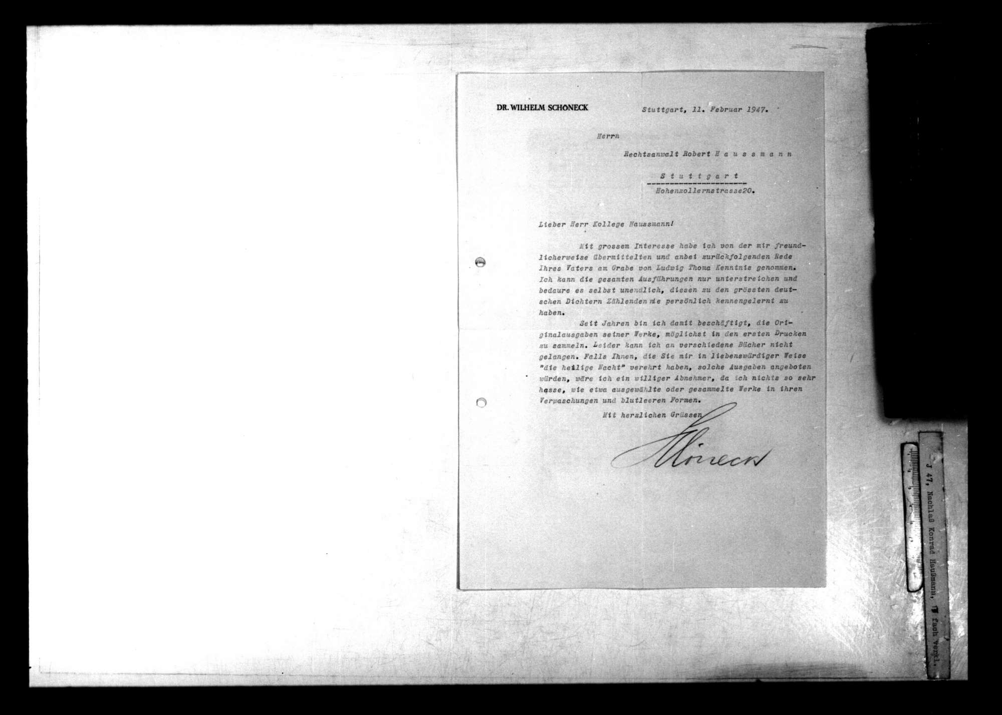 Briefwechsel mit und über Ludwig Thoma, Bild 2