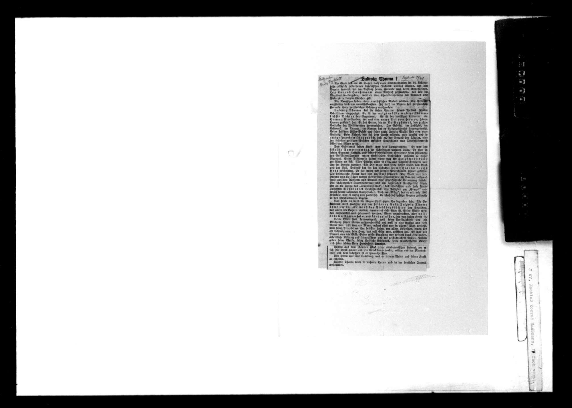 Briefwechsel mit und über Ludwig Thoma, Bild 3