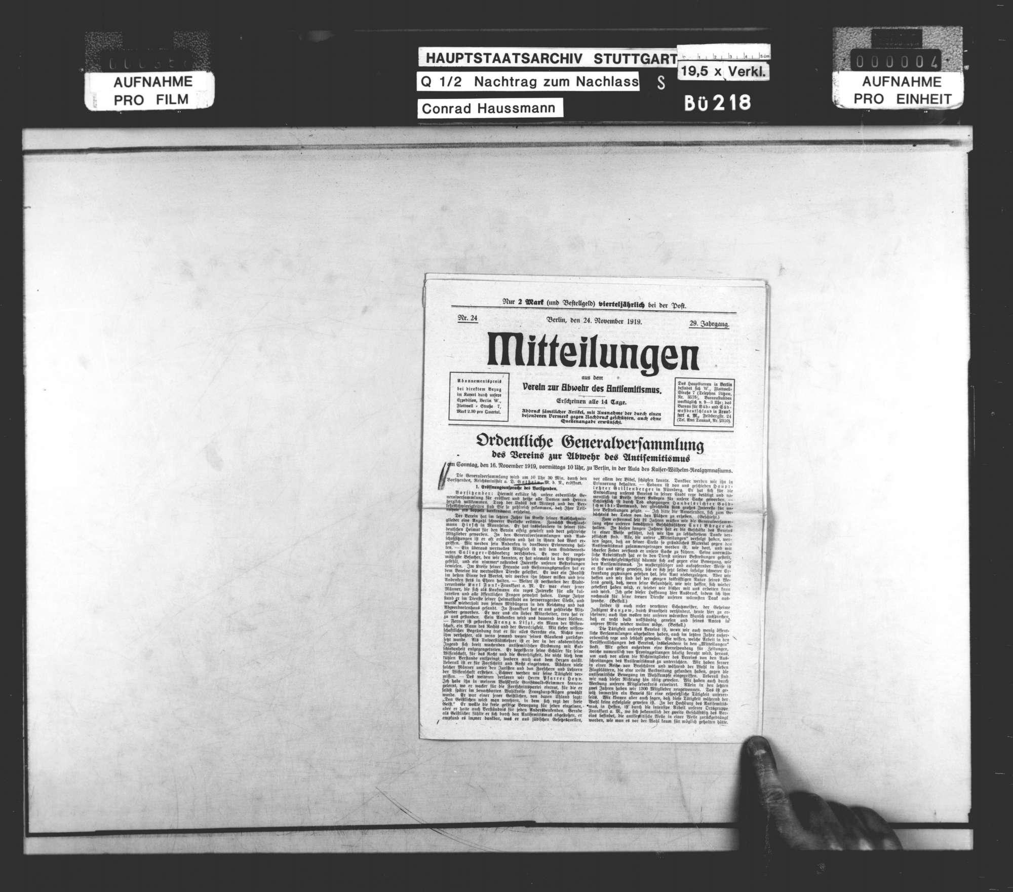 Frauenfragen, Antisemitismus (hauptsächlich Zeitungsausschnitte), Bild 2