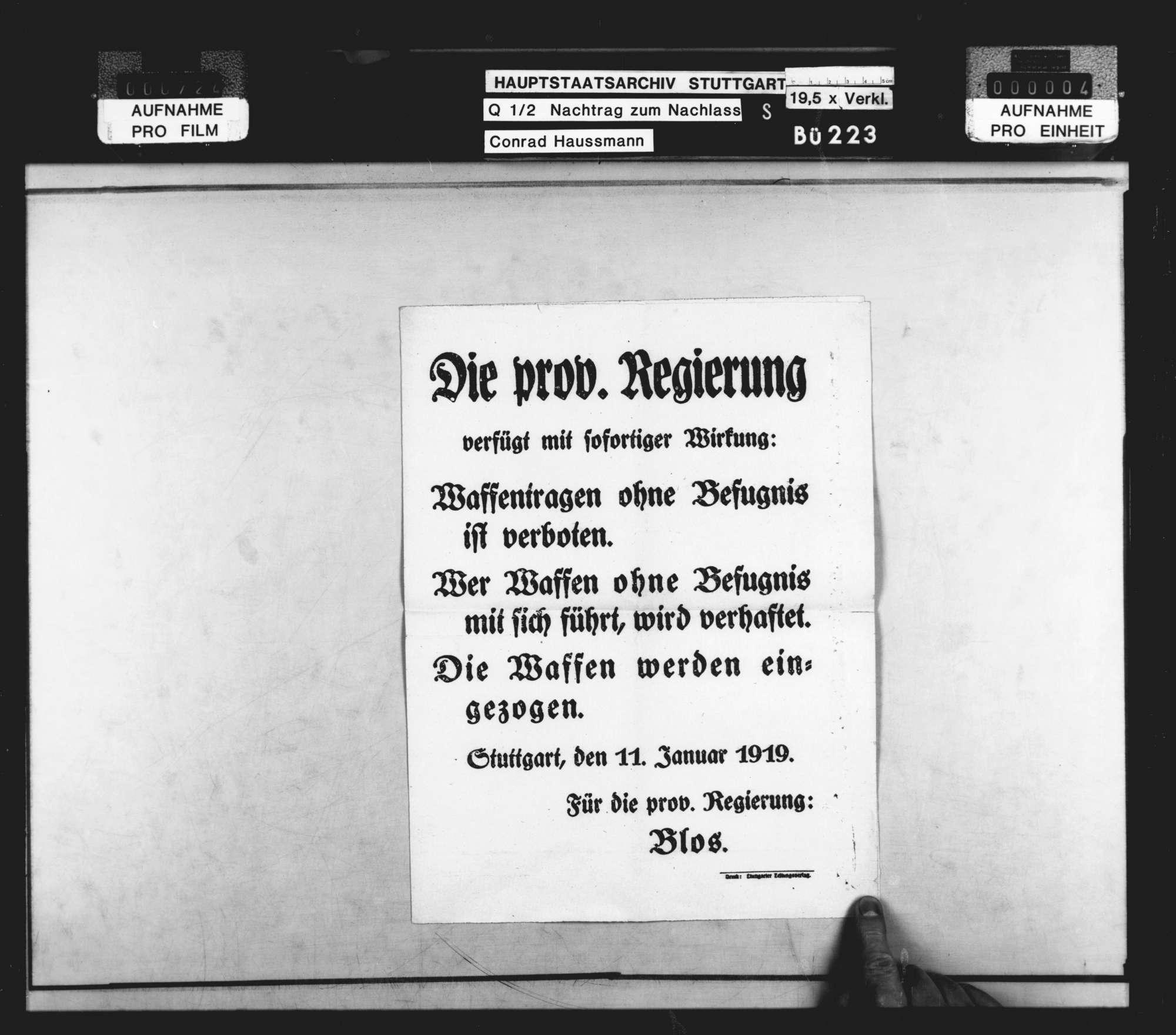 Wahlen (hauptsächlich Flugblätter zur Wahl der Nationalversammlung und Zeitungsausschnitte), Bild 3
