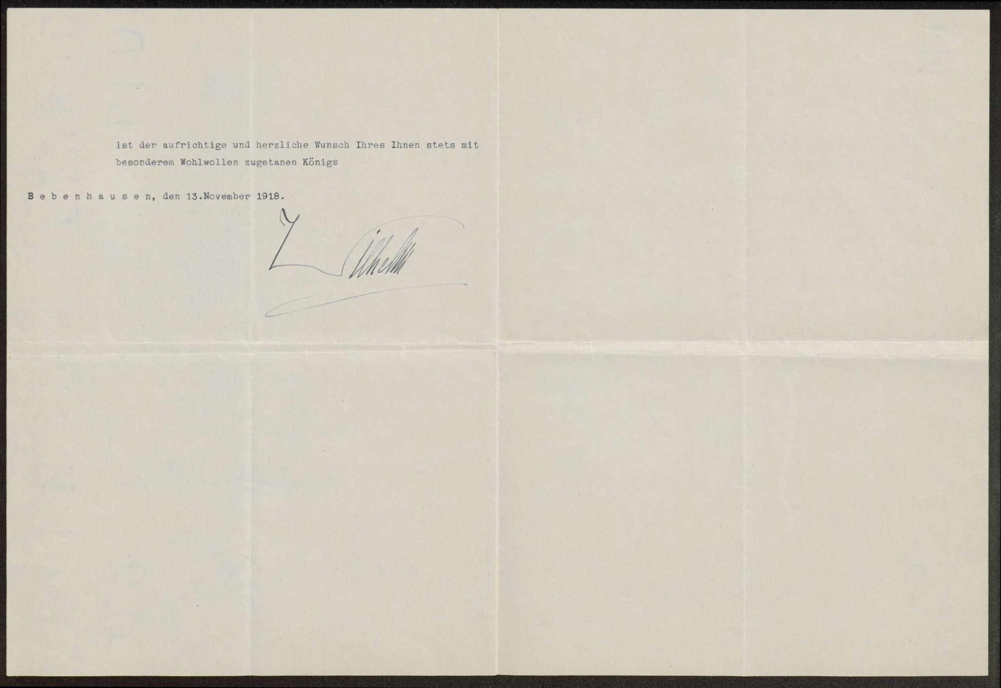 Briefwechsel mit König Wilhelm II., Herzog Albrecht und Herzog Philipp von Württemberg, Bild 2