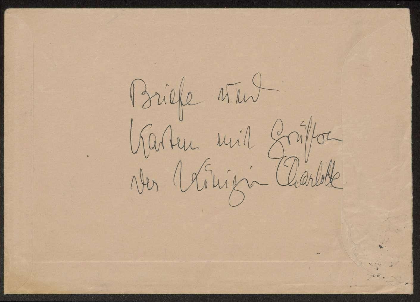 Briefwechsel mit Königin Charlotte von Württemberg, Bild 3