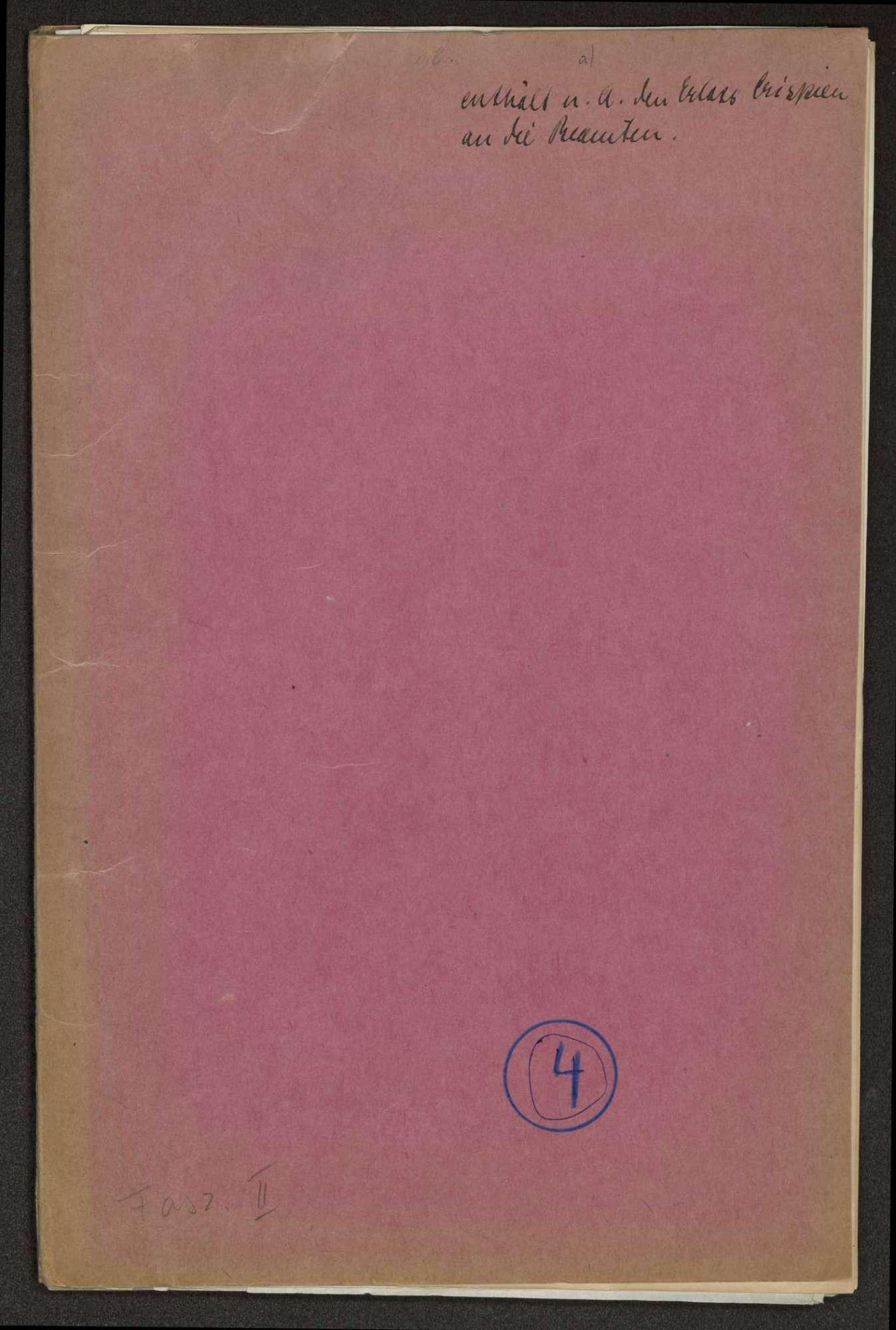 Geschäftsordnung im Ministerium des Innern, Bild 1