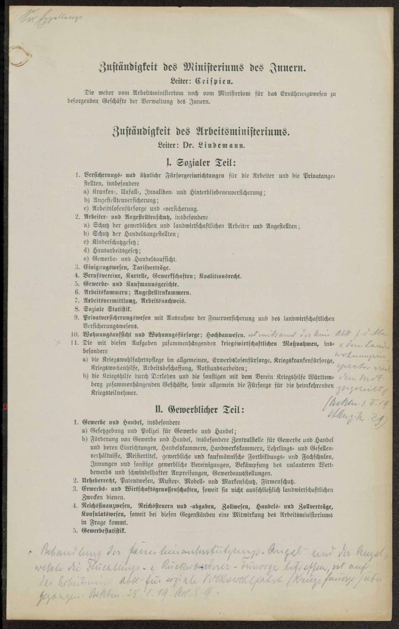 Geschäftsordnung im Ministerium des Innern, Bild 3
