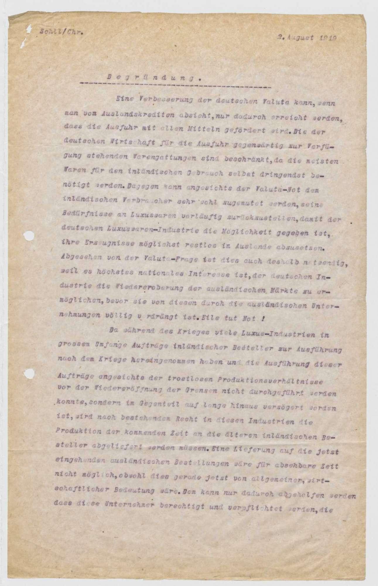 """""""Entwurf einer Verordnung betr. die Ausführung von Auslands-Aufträgen"""", Bild 3"""