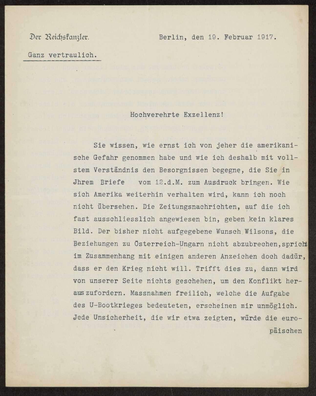 Korrespondenz mit dem Staatssekretär des Reichsamts des Innern bzw. Reichskanzler Theobald v. Bethmann Hollweg bis 1917. Tod Bethmann Hollwegs (1921) Schreiben, Notizen, Zeitungsausschnitte, Bild 2