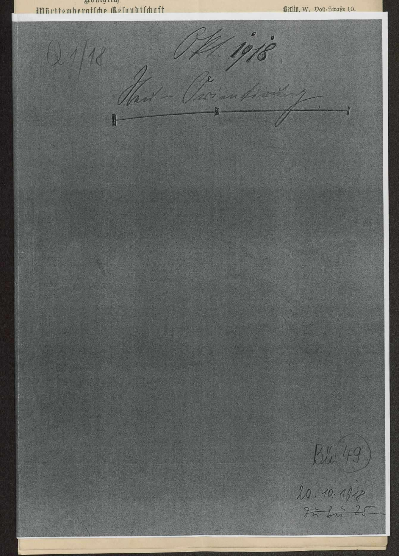 Sitzungen des VIII. Bundesratsausschusses für auswärtige Angelegenheiten am 16. Januar 1917, 9. Mai 1917, 20. August 1917, 26. November 1917, 2. Januar 1918, 22. Mai 1918 und 20. Okotber 1918. Protokolle, Notizen, Berichte, Bild 1