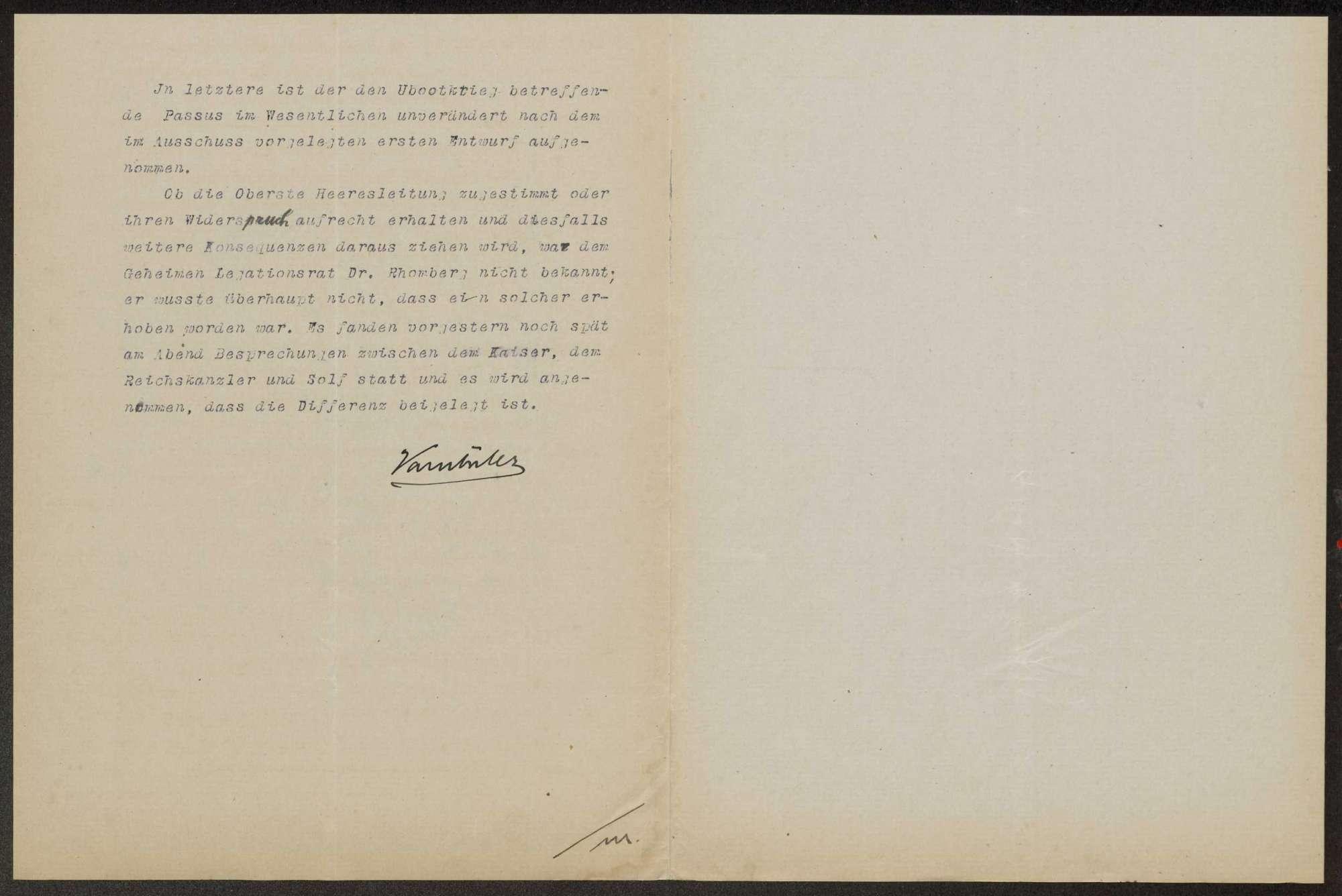 Sitzungen des VIII. Bundesratsausschusses für auswärtige Angelegenheiten am 16. Januar 1917, 9. Mai 1917, 20. August 1917, 26. November 1917, 2. Januar 1918, 22. Mai 1918 und 20. Okotber 1918. Protokolle, Notizen, Berichte, Bild 3