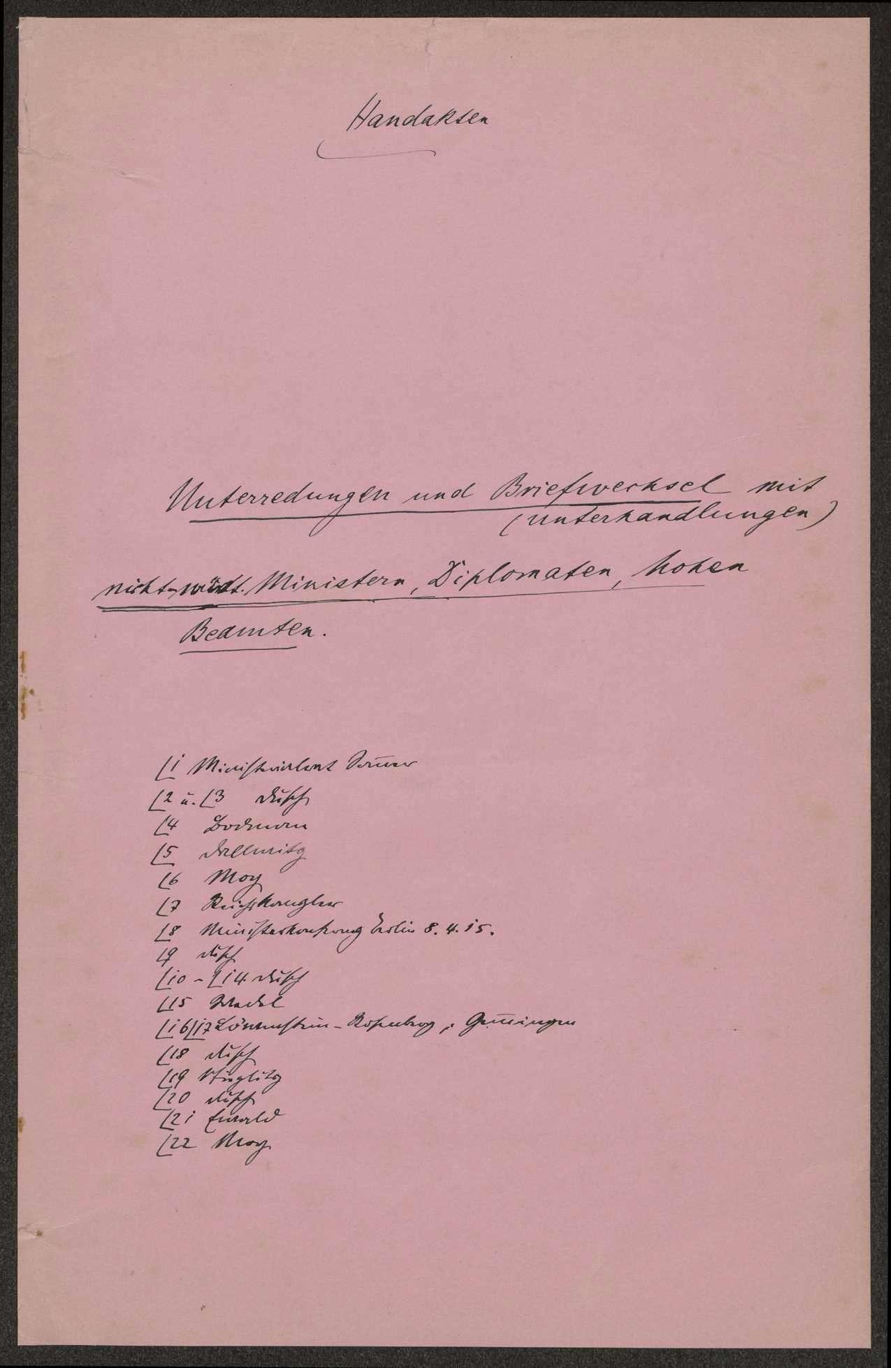 Die elsaß-lothringische Frage. Aufzeichnungen und Korrespondenz mit Reichskanzler, Ministern, Diplomaten und hohen Beamten (mit Inhaltsübersicht), Bild 2